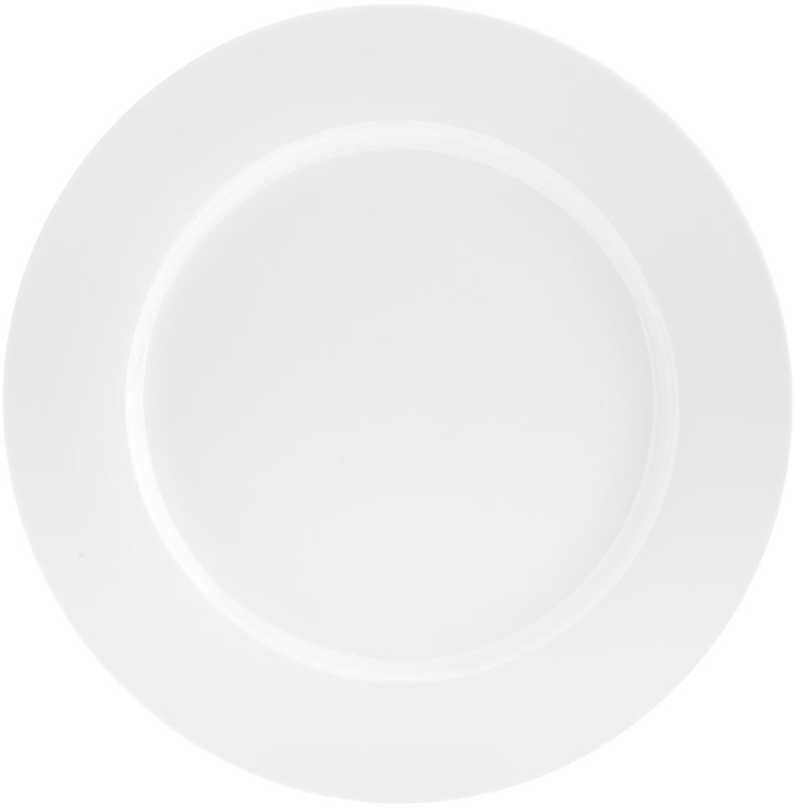 Talerz duży Delight Classic, 2 szt., Porcelana, Biały, Ø 27 cm