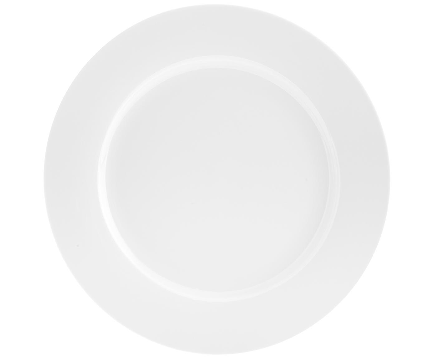 Porzellan-Speiseteller Delight Classic in Weiß, 2 Stück, Porzellan, Weiß, Ø 27 cm