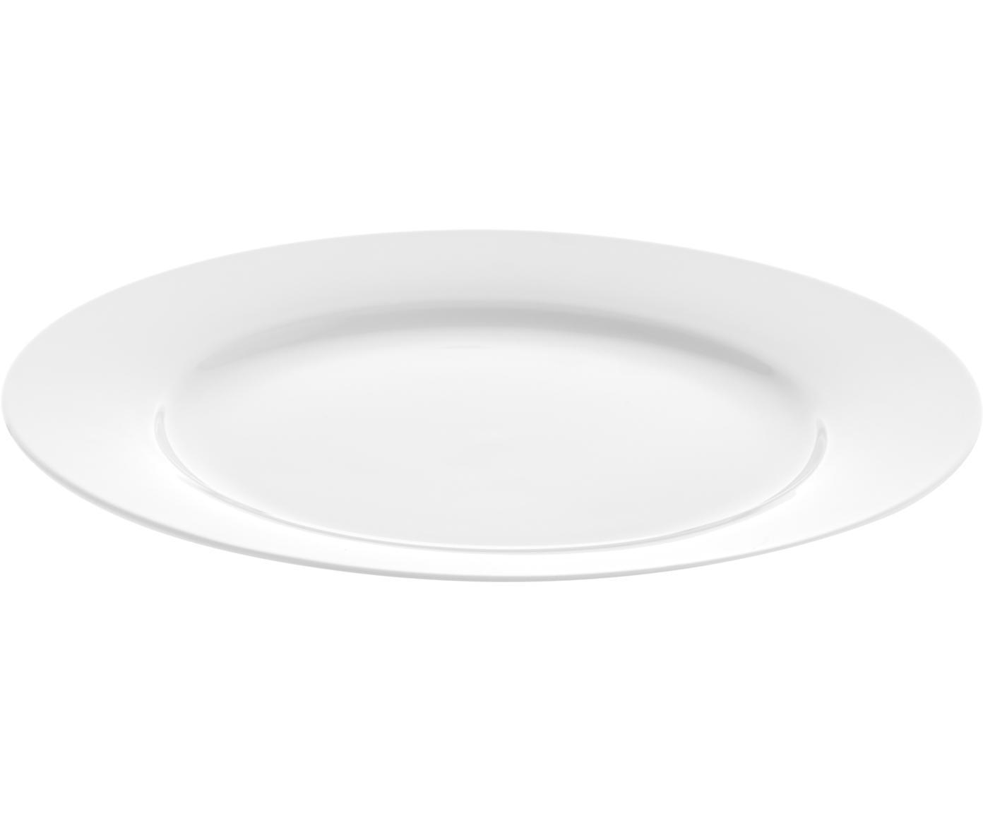 Assiettes plates en porcelaine Delight Classic, 2pièces, Blanc