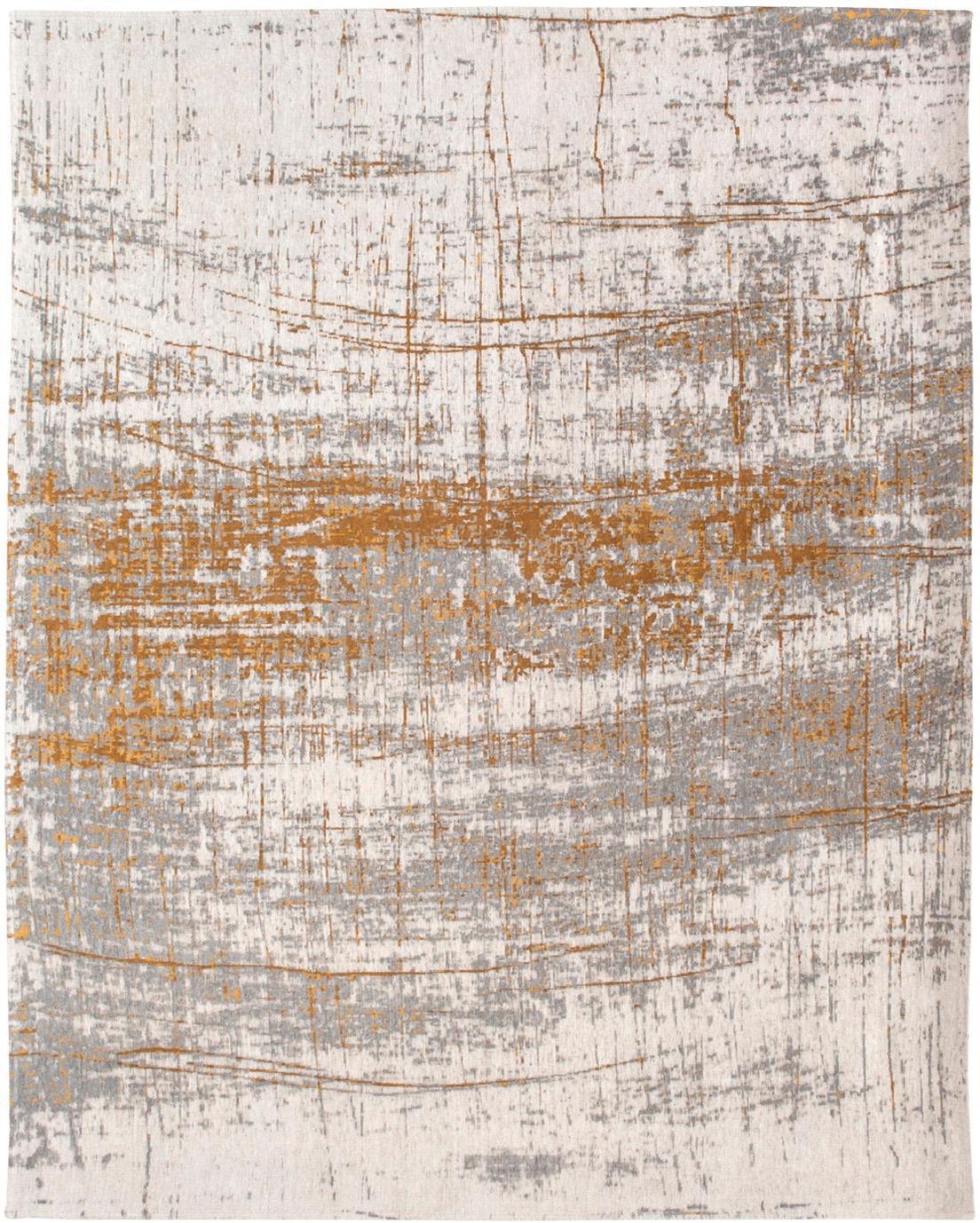 Teppich Griff, Vorderseite: 85%Baumwolle, 15%hochgl, Webart: Jacquard, Rückseite: Baumwollgemisch, latexbes, Grau, Goldfarben, Weiß, B 280 x L 360 cm (Größe XL)