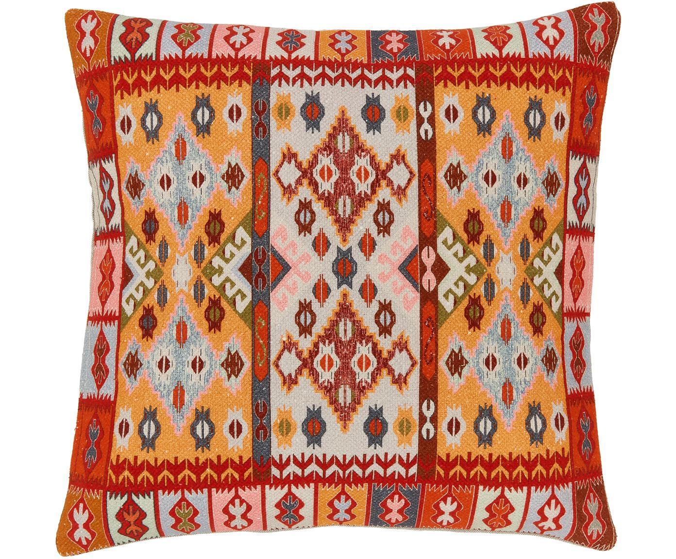 Funda de cojín Budak, estilo étnico, Algodón, Multicolor, An 45 x L 45 cm