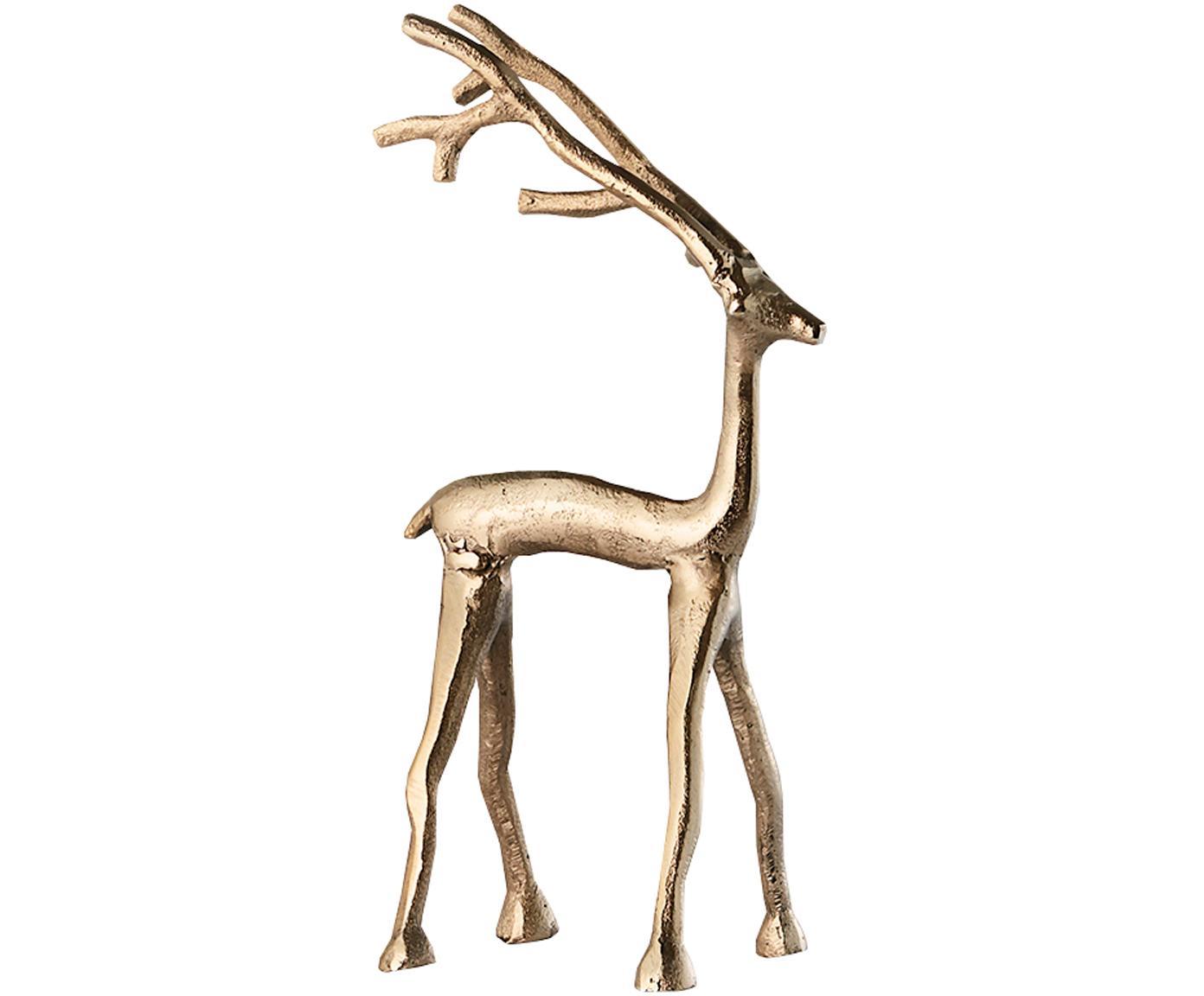 Figura decorativa artesanal Mistle, Aluminio, Dorado, An 10 x Al 27 cm
