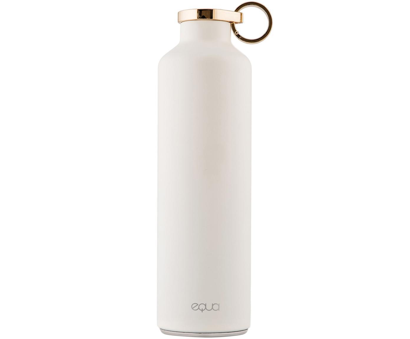 Borraccia termica Basic, Acciaio inossidabile, rivestito, Bianco, dorato, Ø 8 x Alt. 26 cm