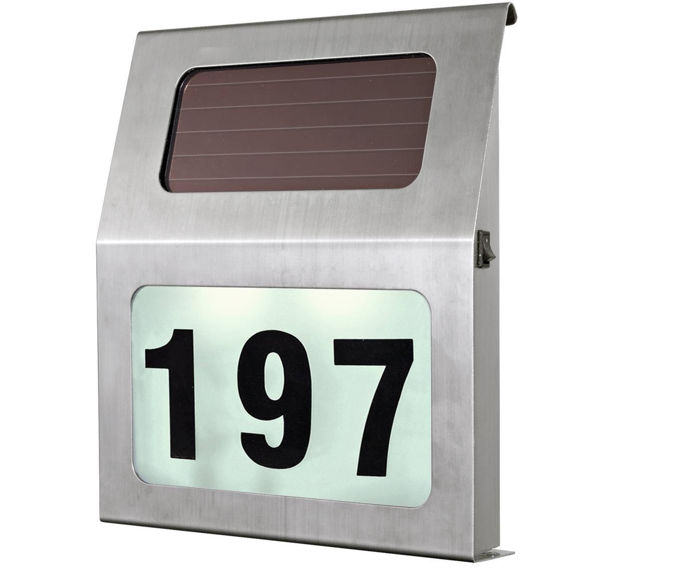 Applique da esterno numero civico a LED Zingy, Acciaio inossidabile, materiale sintetico, Acciaio inossidabile, Larg. 30 x Alt. 30 cm
