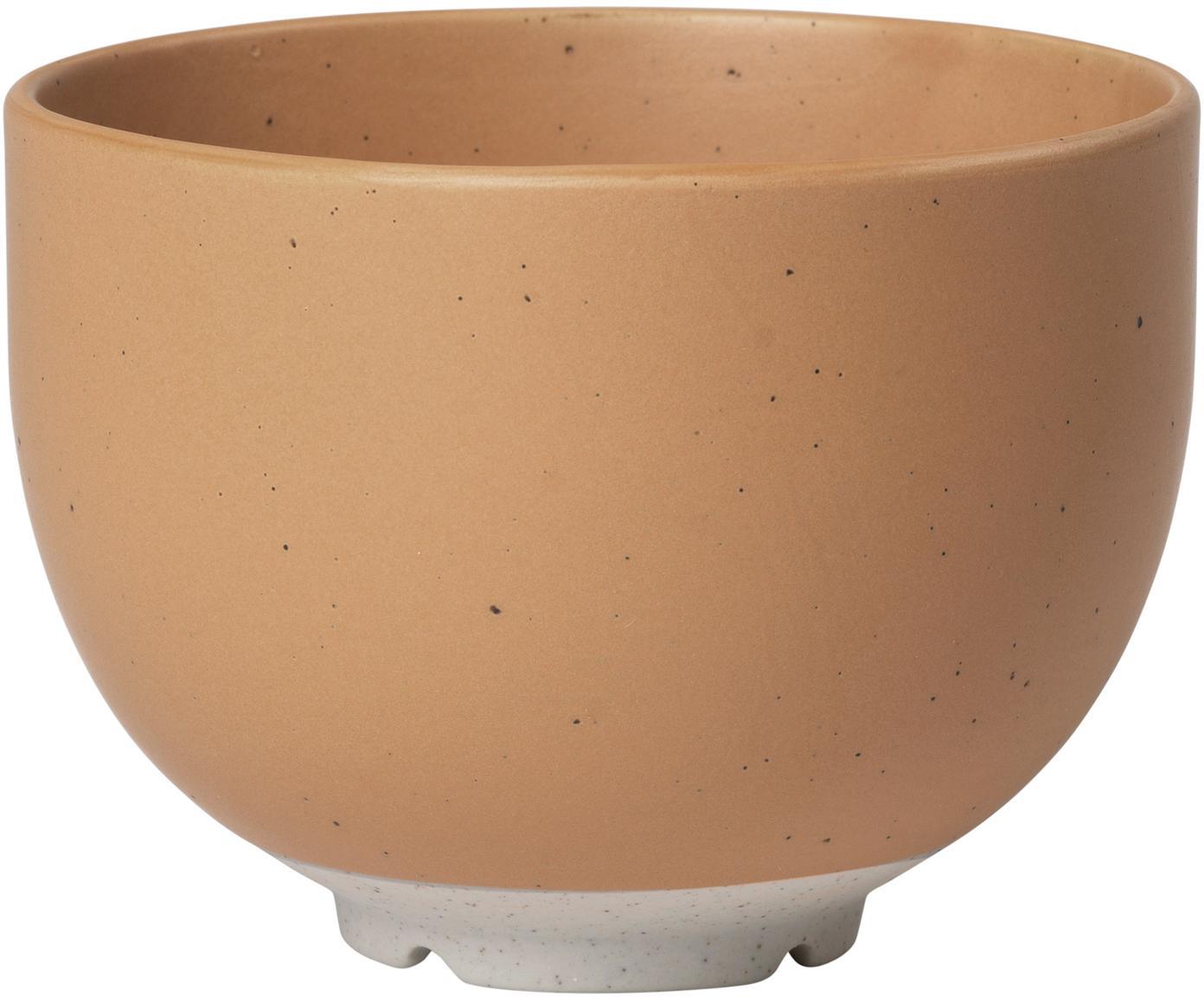 Ciotola in terracotta con finitura opaca Eli 4 pz, Gres, Marrone chiaro, beige, Ø 11 cm