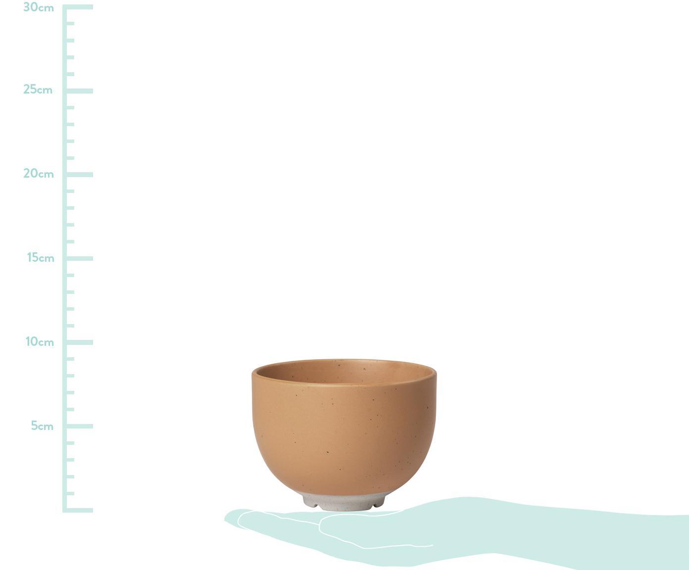 Steingut-Schälchen Eli mit mattem Finish, 4 Stück, Steingut, Hellbraun, Beige, Ø 11 cm