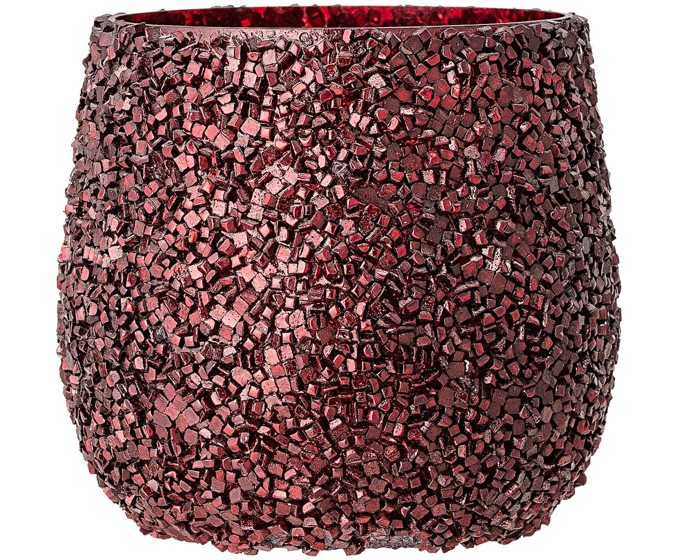 Portalumini Asa, Vetro, Rosso, Ø 10 x Alt. 10 cm