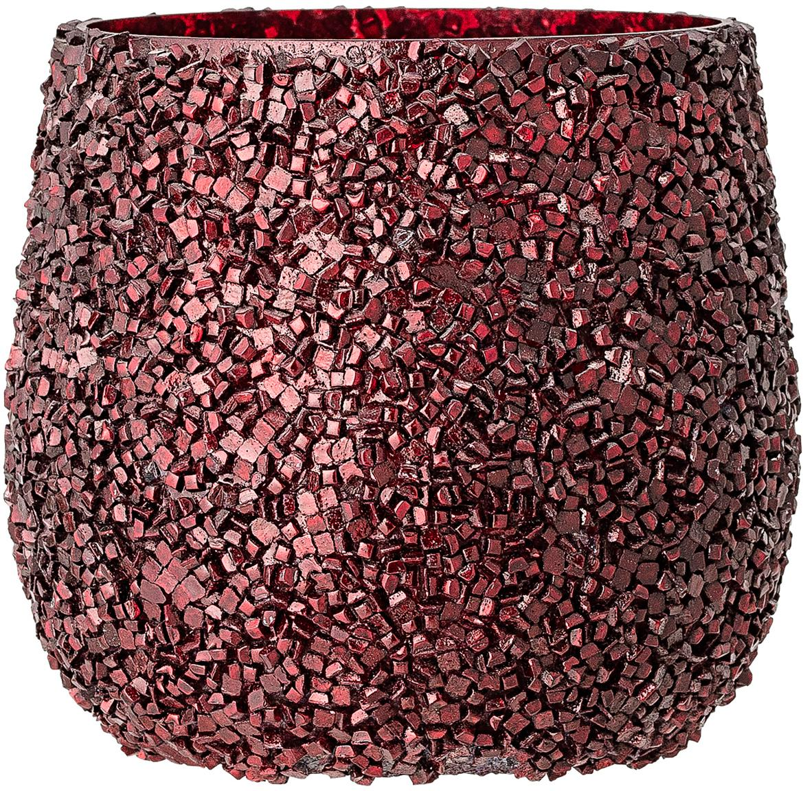 Waxinelichthouder Asa, Glas, Rood, Ø 10 x H 10 cm