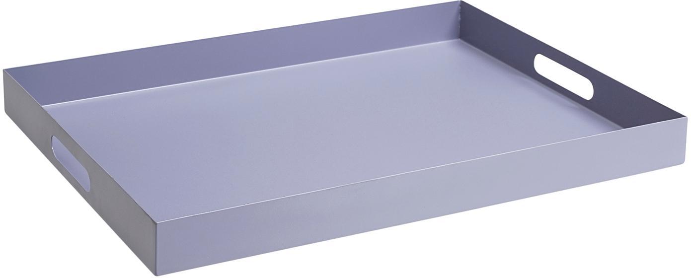 Serviertablett Satu in Lila, Metall, beschichtet, Lila, B 40 x T 30 cm