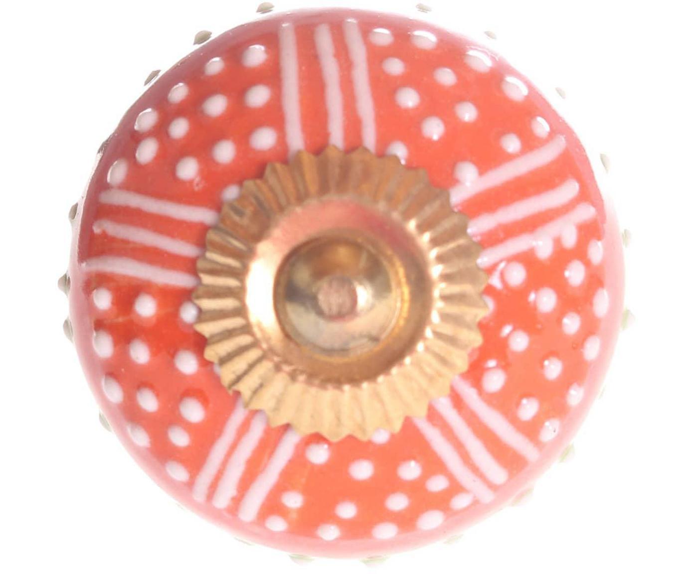 Tirador Dotts, Cerámica, metal, Multicolor, Ø 4 cm