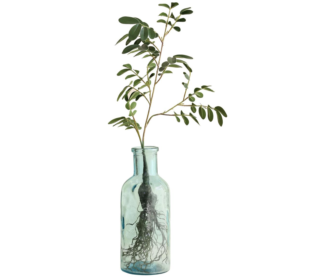 Glas-Vase Flower, Glas, Grün, Ø 9 x H 23 cm