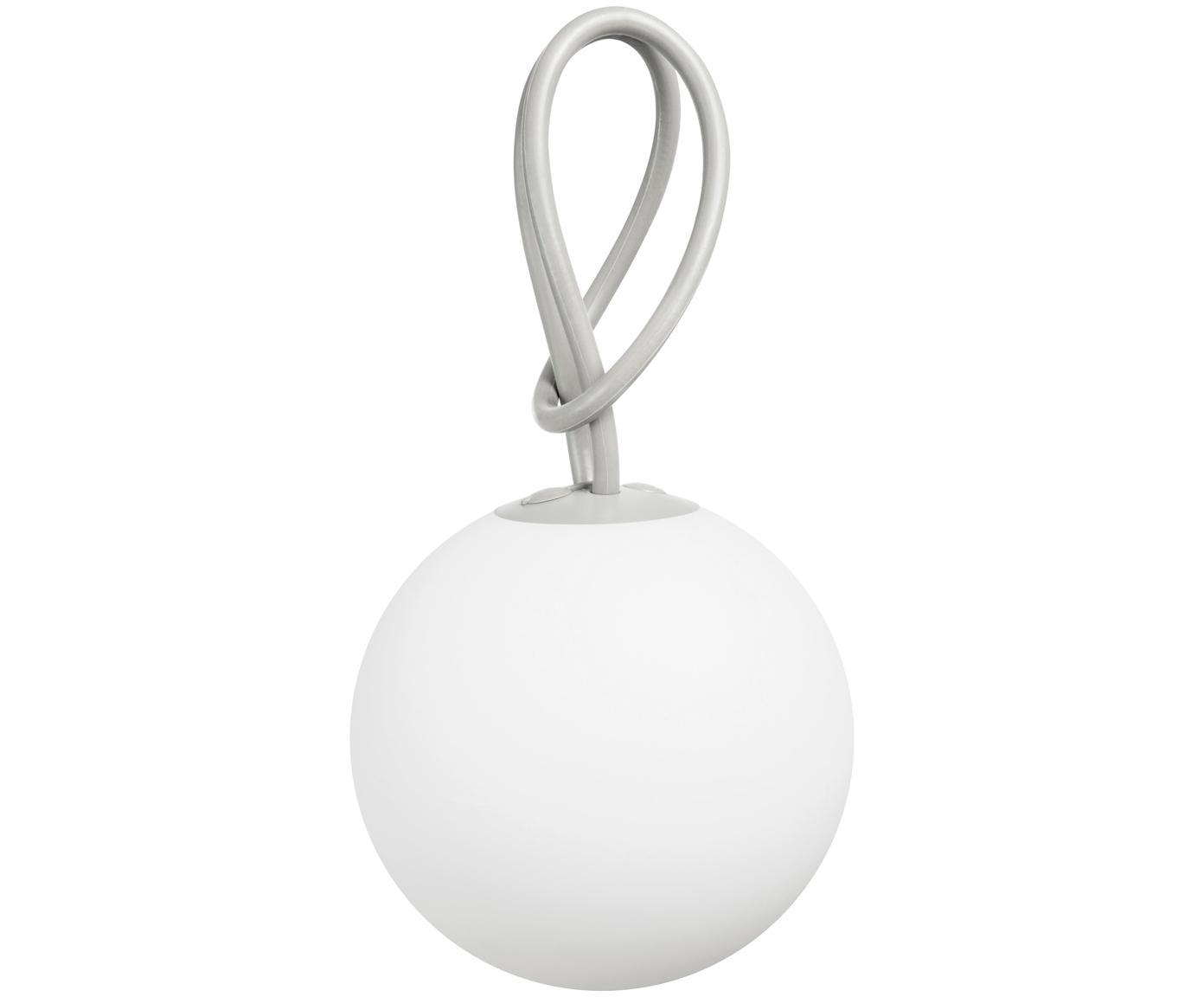 Mobile LED Außenleuchte Bolleke, Weiß, Hellgrau, Ø 20 x H 20 cm