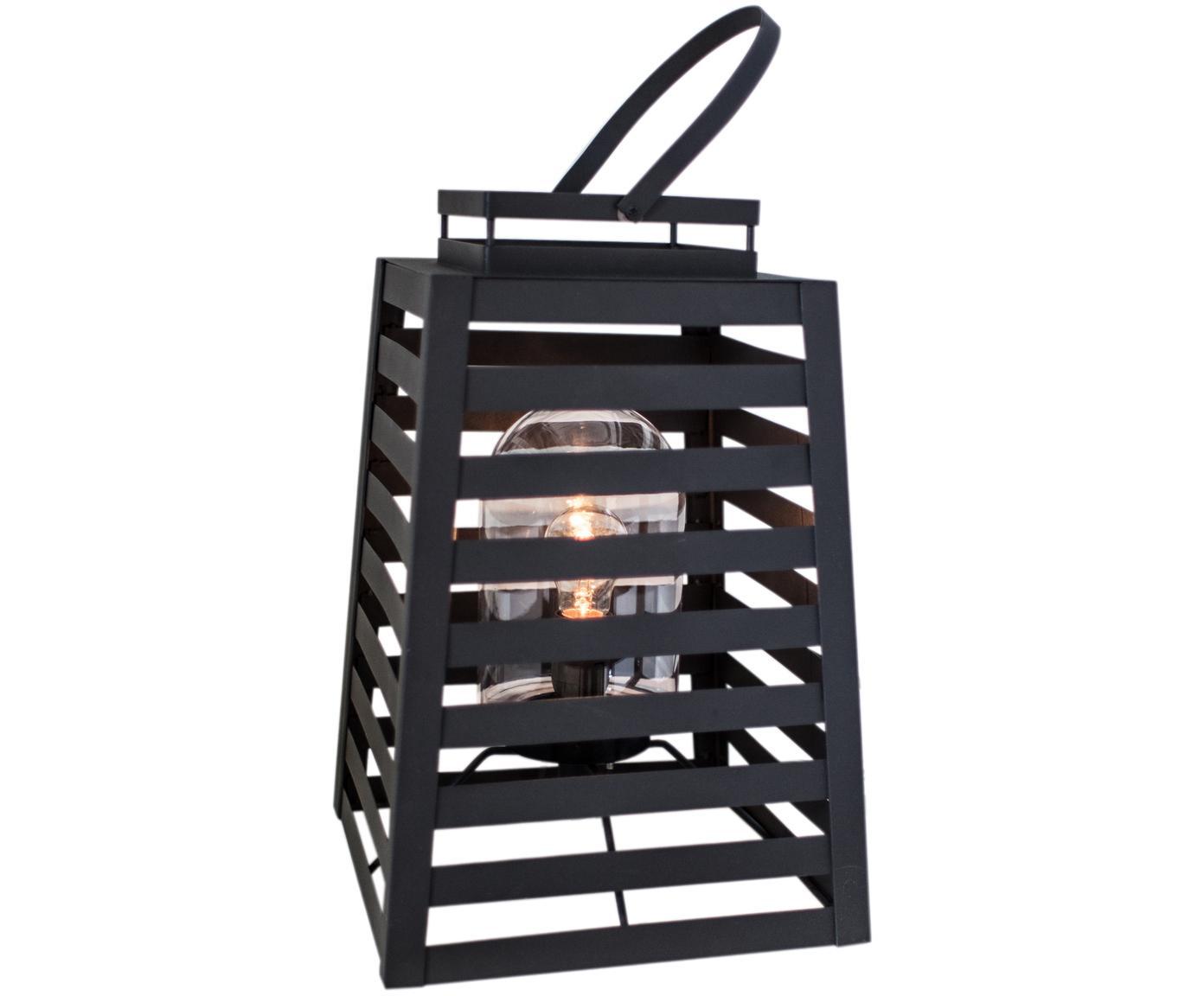 Außenstehleuchte Yankton in Laternenform, Leuchte: Metall, pulverbeschichtet, Schwarz, 30 x 60 cm