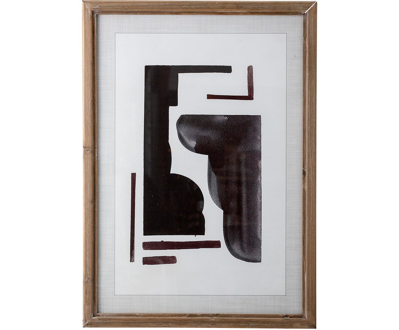 Gerahmter Digitaldruck Hannelore, Rahmen: Tannenholz, Mitteldichte , Bild: Digitaldruck auf Papier, Front: Glas, Tannenholz, 50 x 70 cm