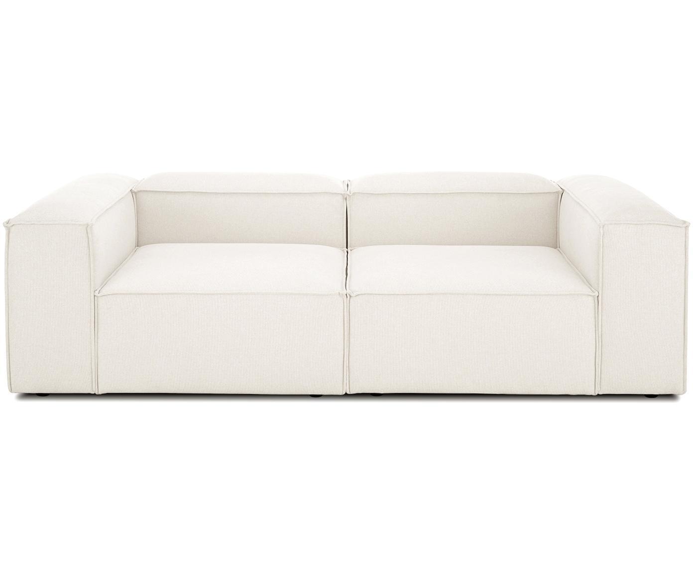 Sofá modular Lennon (3plazas), Tapizado: 60%poliéster, 40%viscos, Estructura: madera de pino maciza, ag, Patas: plástico, Tejido beige, An 242 x F 121 cm