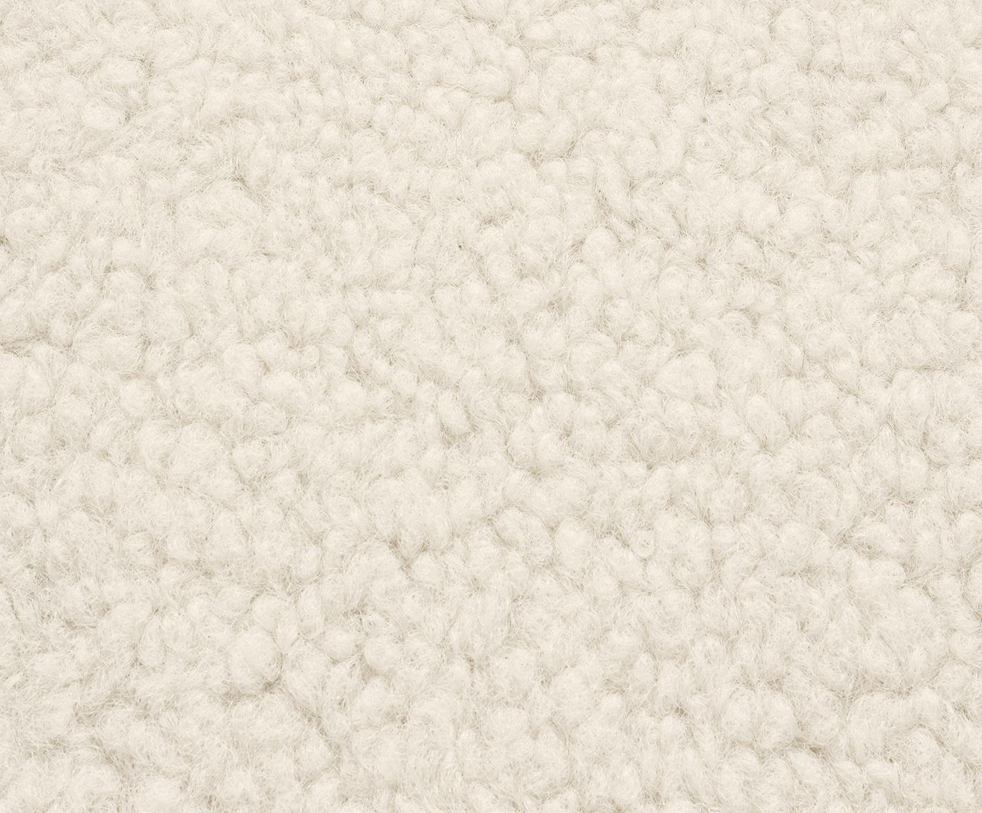 Fauteuil en peluche Fluente, Peluche blanc crème