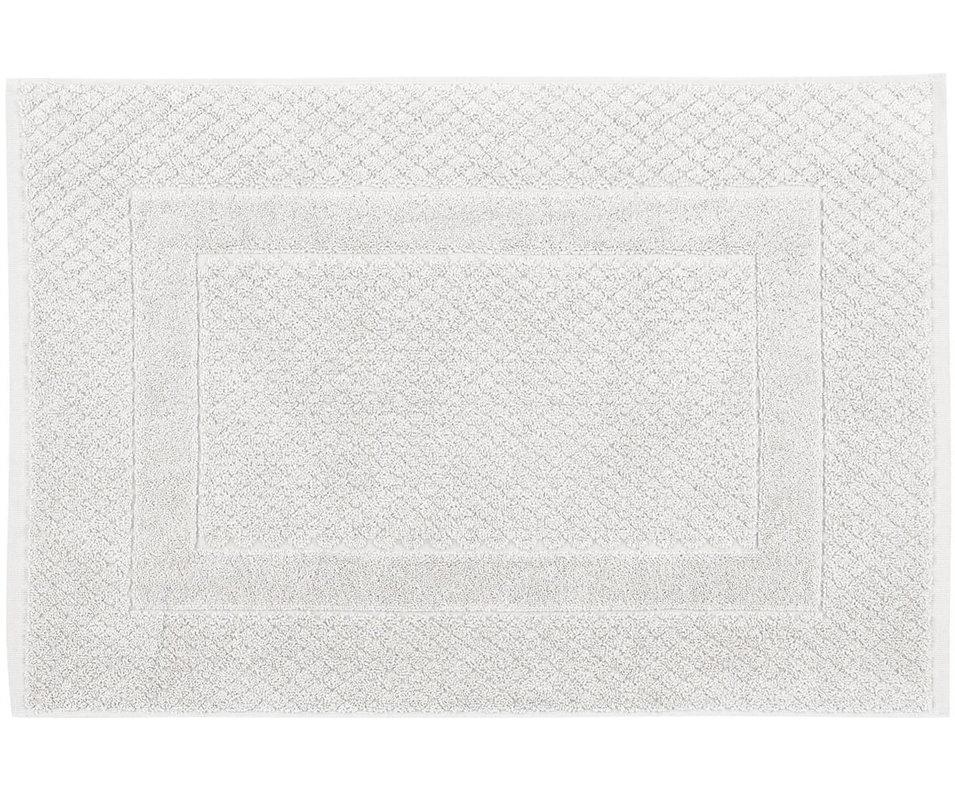Badvorleger Katharina in Hellgrau, 100% Baumwolle, schwere Qualität, 900 g/m², Silbergrau, 50 x 70 cm