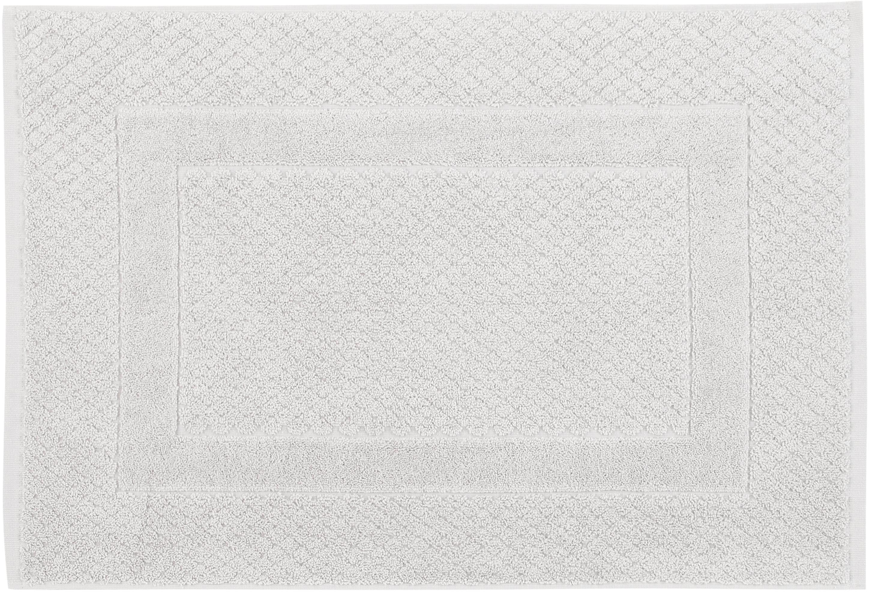 Alfombrilla de baño Katharina, 100%algodón, gramaje superior, 900g/m², Gris pleateado, An 50 x L 70 cm