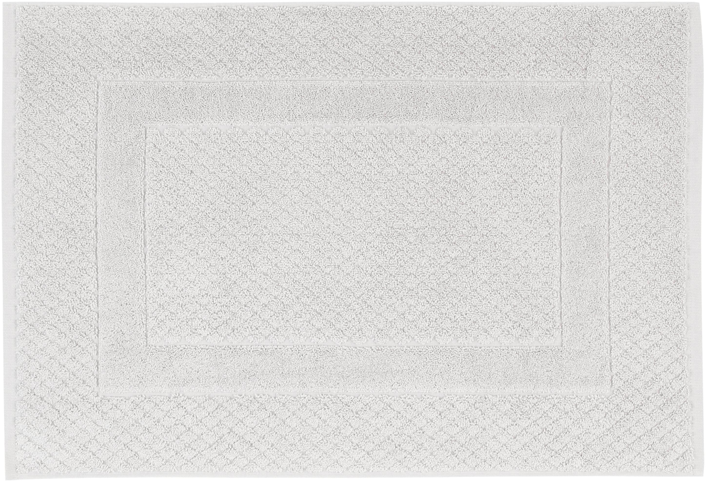 Tappeto bagno grigio chiaro Katharina, 100% cotone, qualità pesante, 900g/m², Grigio argento, Larg. 50 x Lung. 70 cm