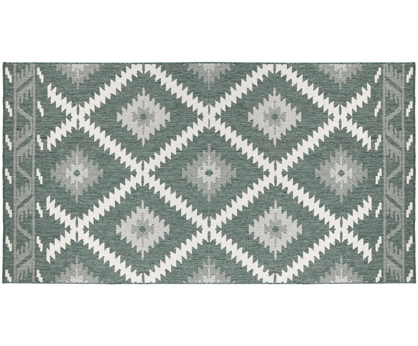 Alfombra reversible de interior/exterior Malibu, Verde, crema, An 200 x L 290 cm (Tamaño L)