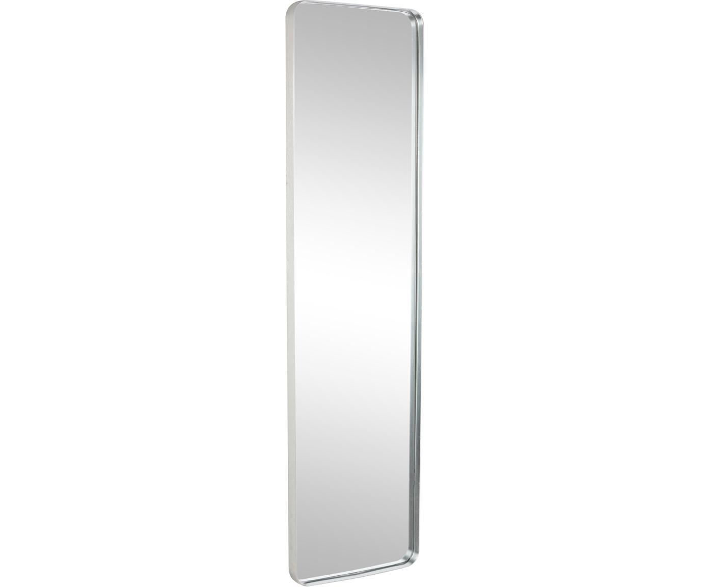Wandspiegel Sile mit Metallrahmen in Silber, Rahmen: Metall, Spiegelfläche: Spiegelglas, Silberfarben, 31 x 120 cm