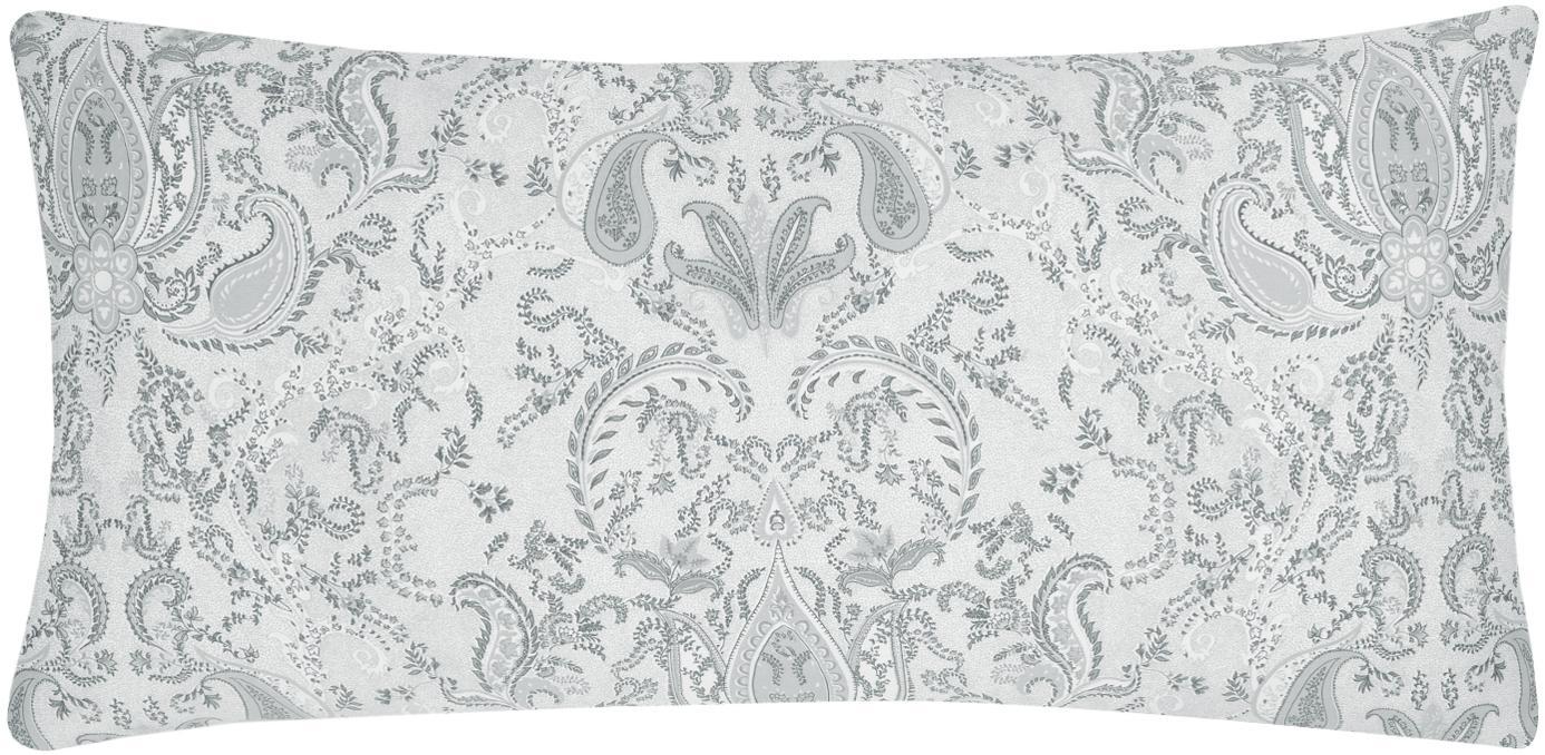 Funda de almohada de satén Grantham, Gris claro, An 45 x L 85 cm