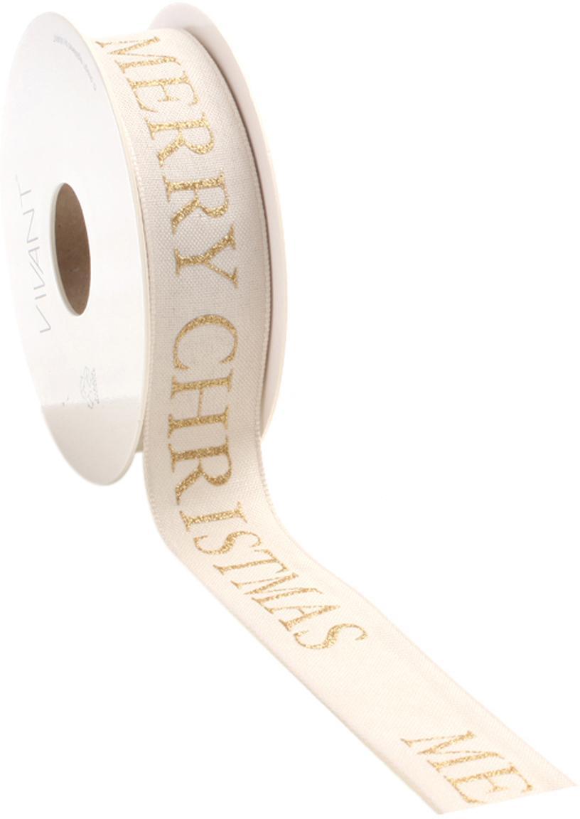 Cadeaulint Textire, Polyester, Lichtbeige, goudkleurig, 3 x 1500 cm