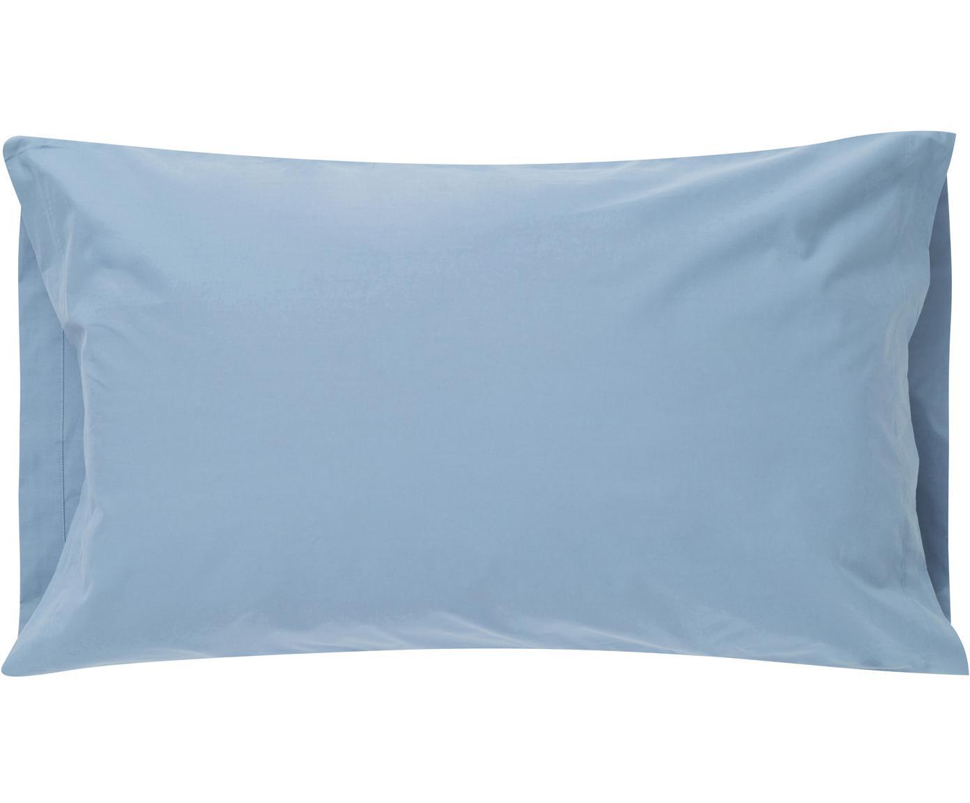 Fundas de almohada Plain Dye, 2uds., Algodón, Azul vaquero, An 50 x L 85 cm