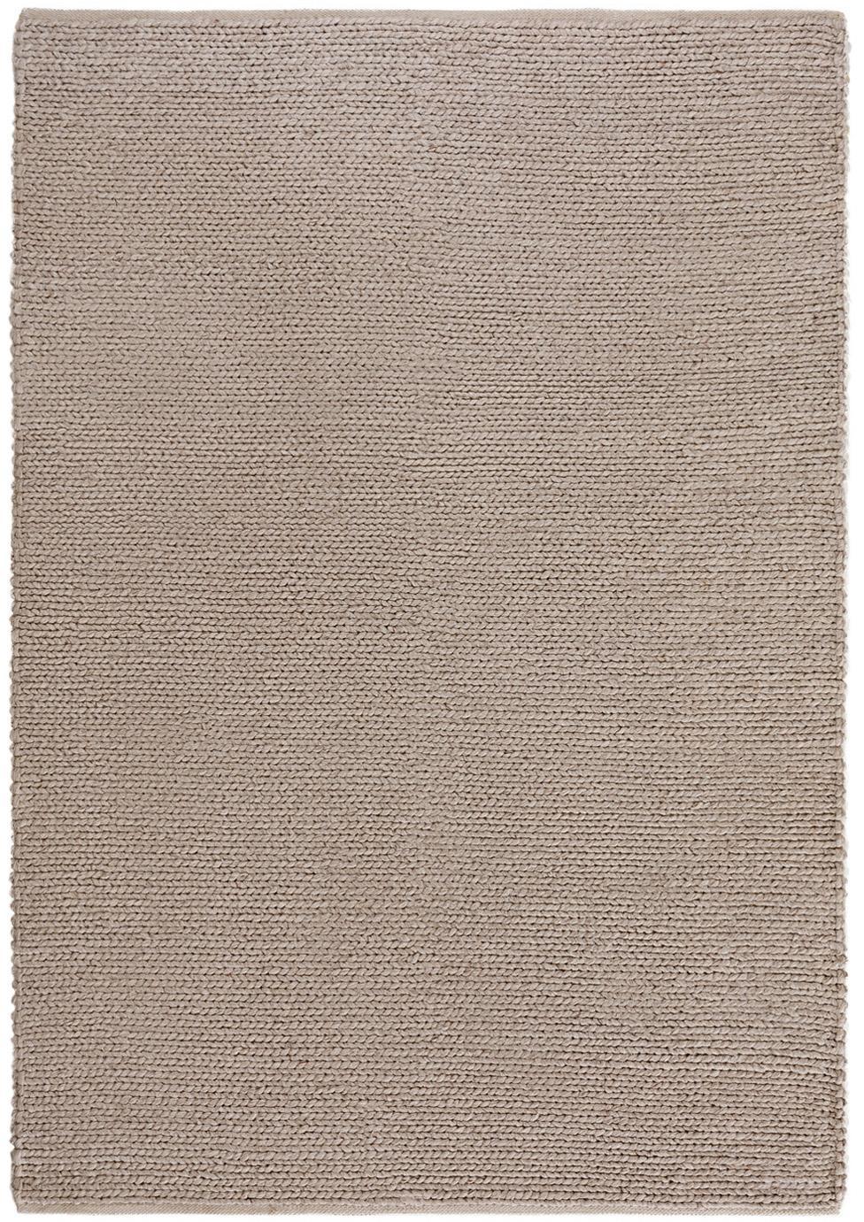 Tappeto in lana tessuto a mano Uno, Retro: cotone, Taupe, Larg. 120 x Lung. 170 cm (taglia S)
