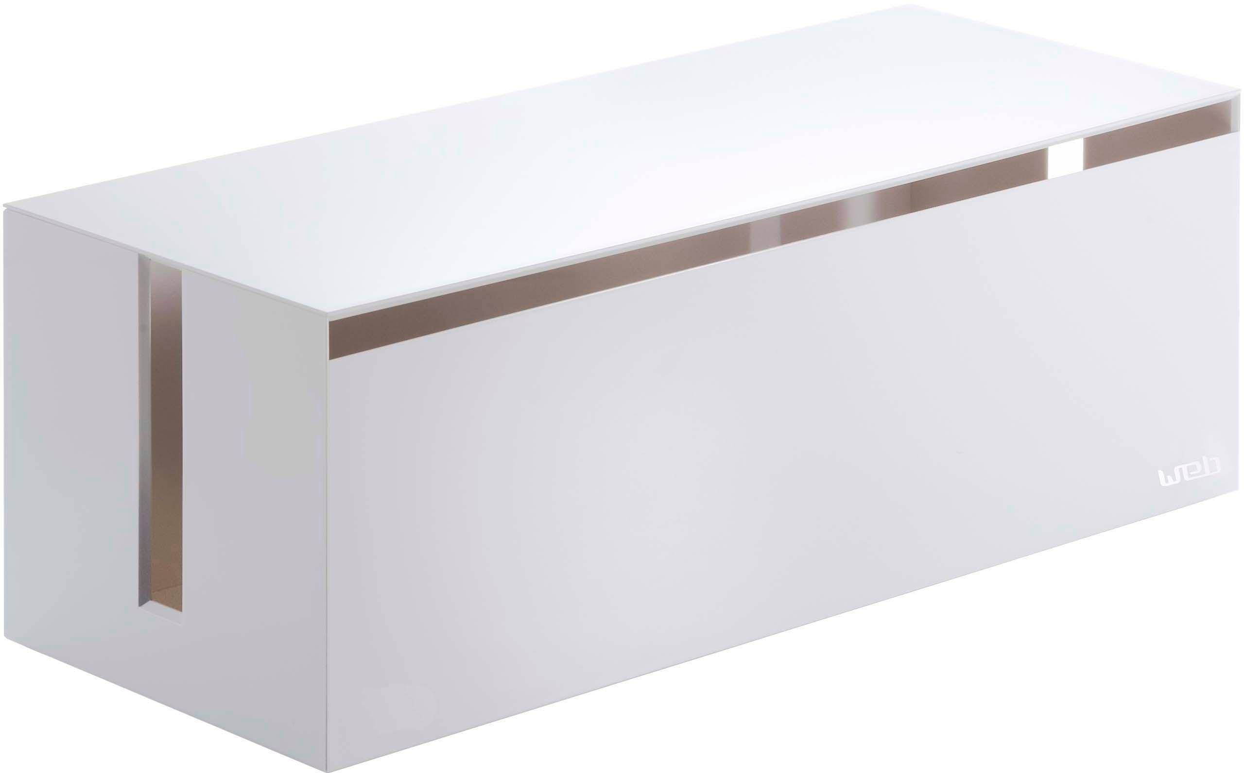 Scatola per cavi Web, Materiale sintetico (policarbonato), poliresina, Bianco, Larg. 40 x Alt. 15 cm