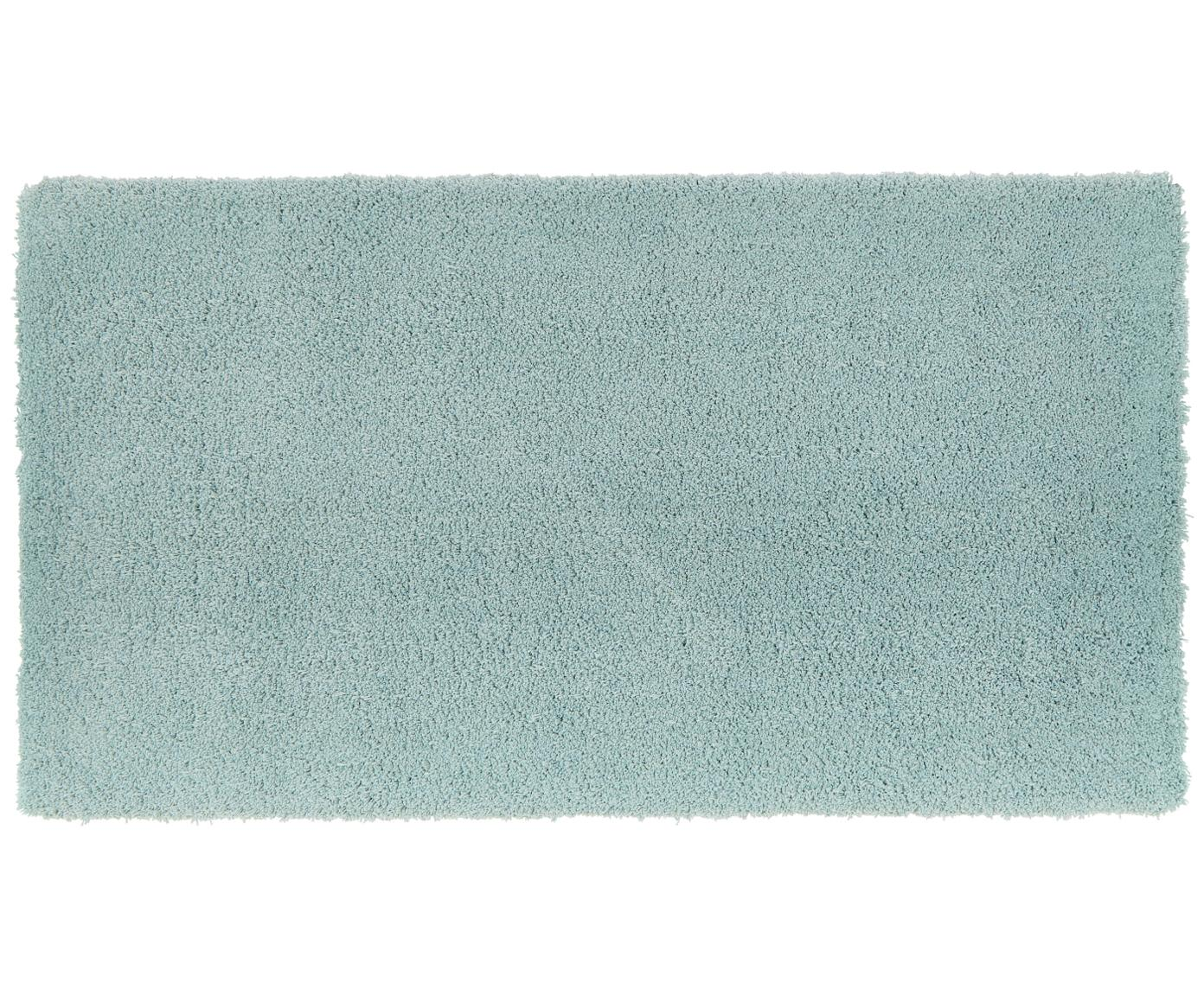 Flauschiger Hochflor-Teppich Leighton in Mintgrün, Flor: 100% Polyester (Mikrofase, Mintgrün, B 80 x L 150 cm (Grösse XS)