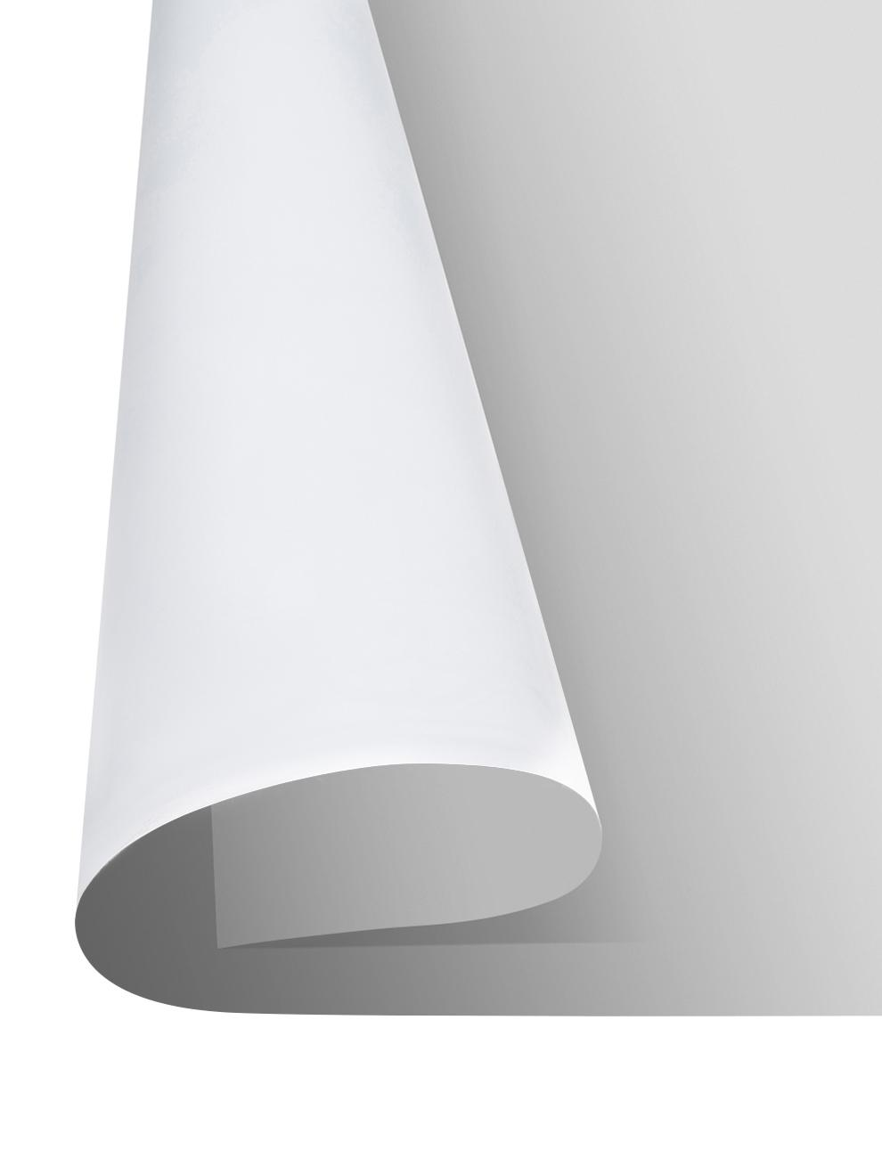Vinyl-Bodenmatte Elena, Vinyl, recycelbar, Schwarz, Weiß, Grau, 65 x 255 cm