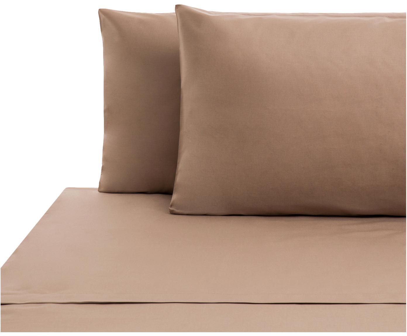 Set lenzuola in cotone ranforce Lenare 2 pz, Tessuto: Renforcé, Fronte e retro: taupe, 240 x 290 cm