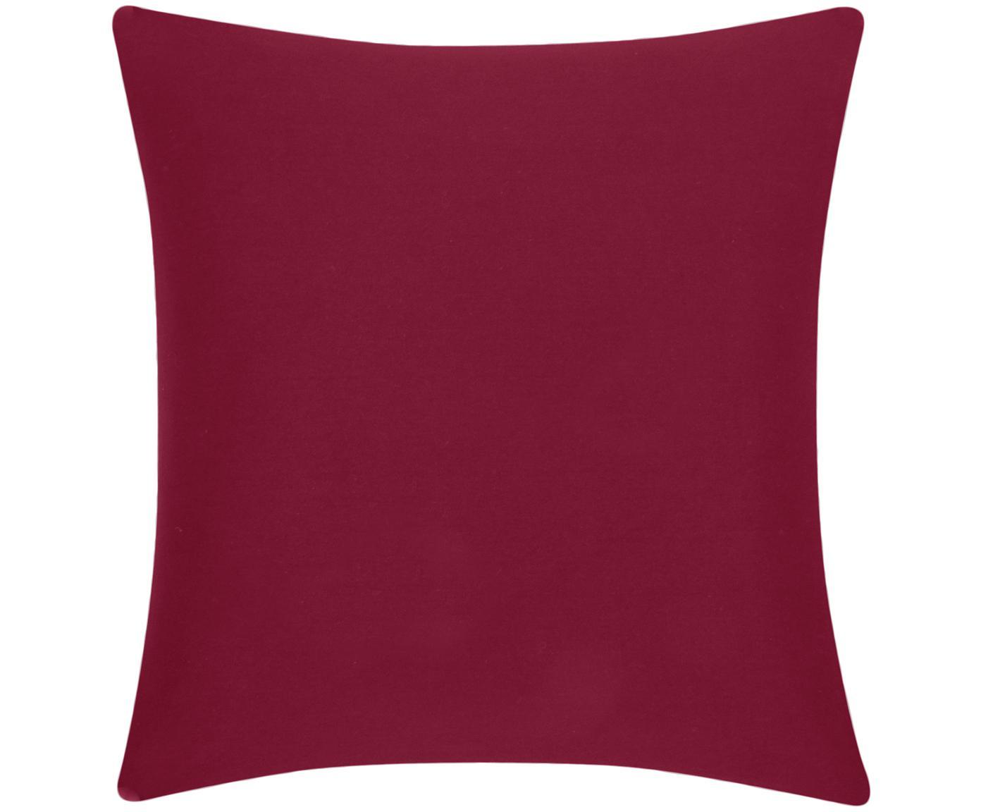 Baumwoll-Kissenhülle Mads in Rot, 100% Baumwolle, Rot, 50 x 50 cm