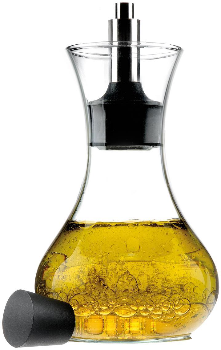 Oliera Eva Solo, Vetro, acciaio inossidabile, materiale sintetico, Trasparente, nero, acciaio inossidabile, 250 ml