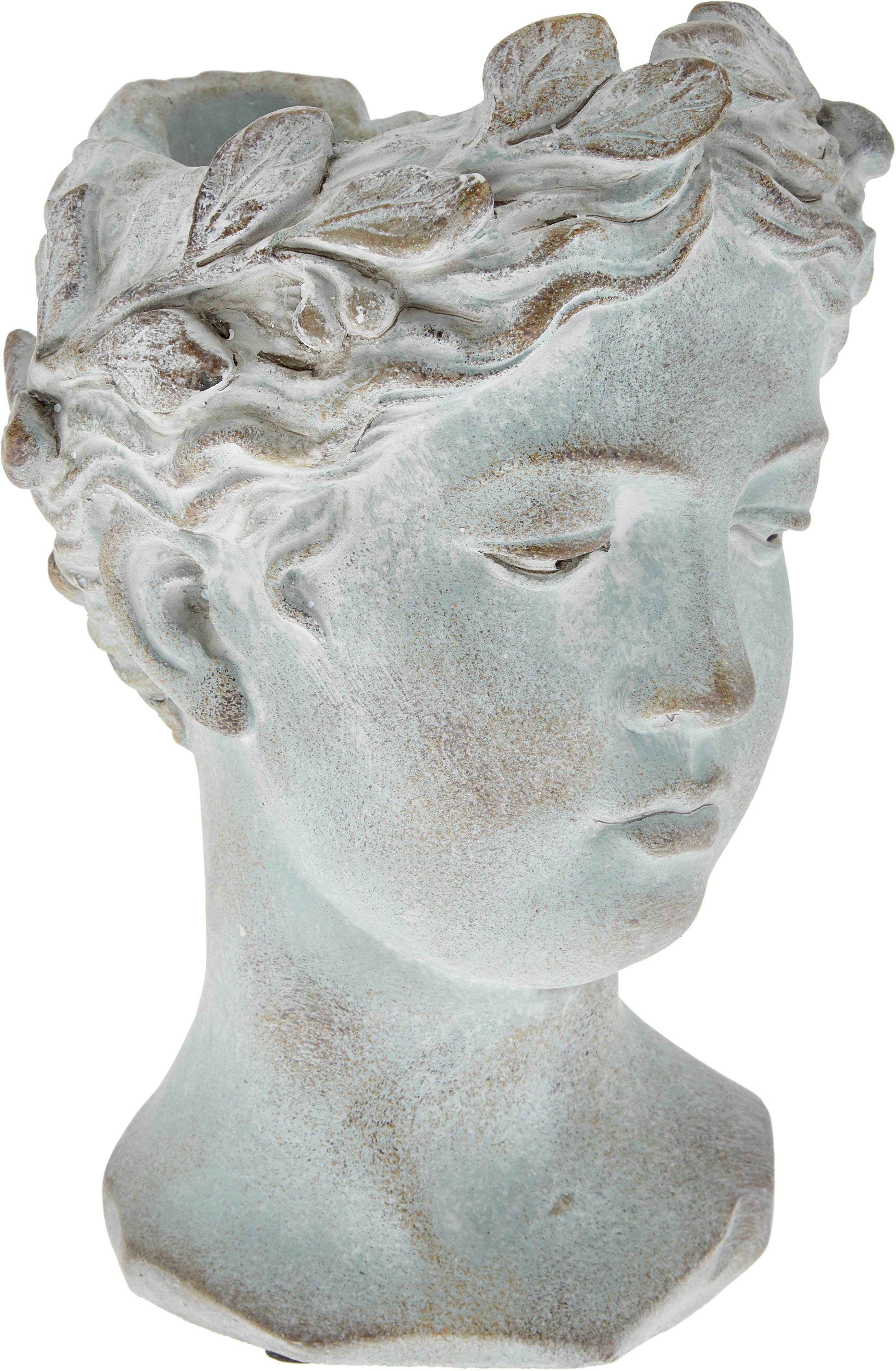 Osłonka na doniczkę Pass, Cement, Szary, matowy, Ø 18 x 27 cm