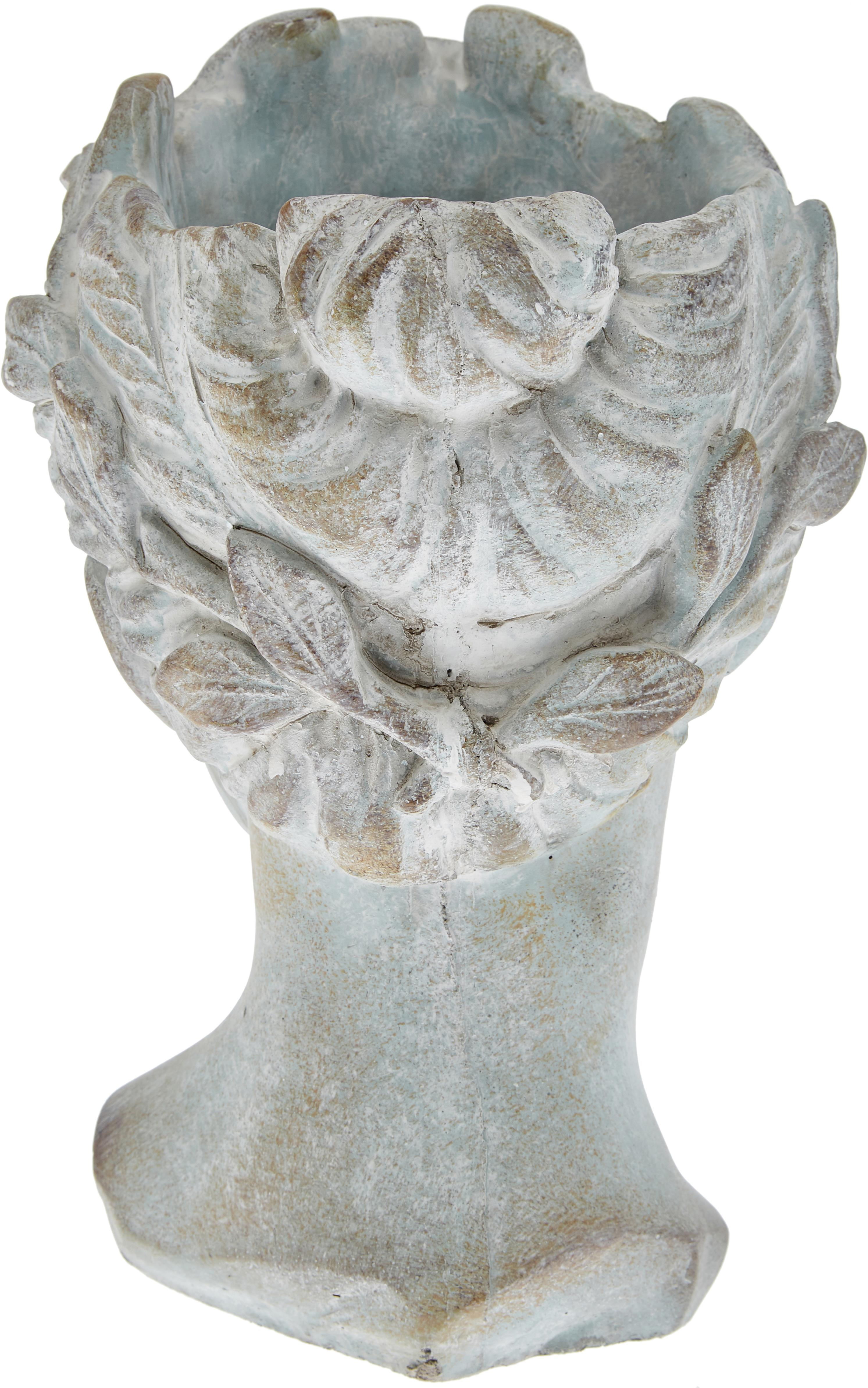 Übertopf Pass aus Zement, Zement, Grau, Ø 18 x H 27 cm