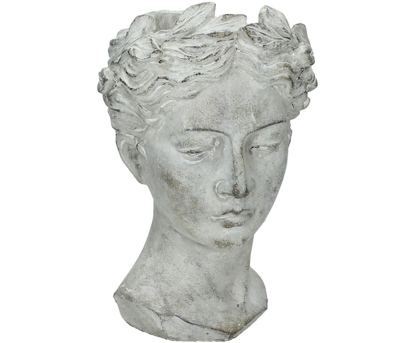 Plantenpot Pass, Cement, Grijs, Ø 18 x H 27 cm