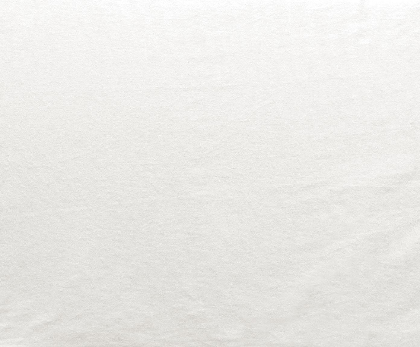 Sofa Mila (3-osobowa), Tapicerka: bawełna 26 000 cykli w te, Stelaż: lite drewno świerkowe, Nogi: tworzywo sztuczne, Kremowobiały, S 195 x G 82 cm