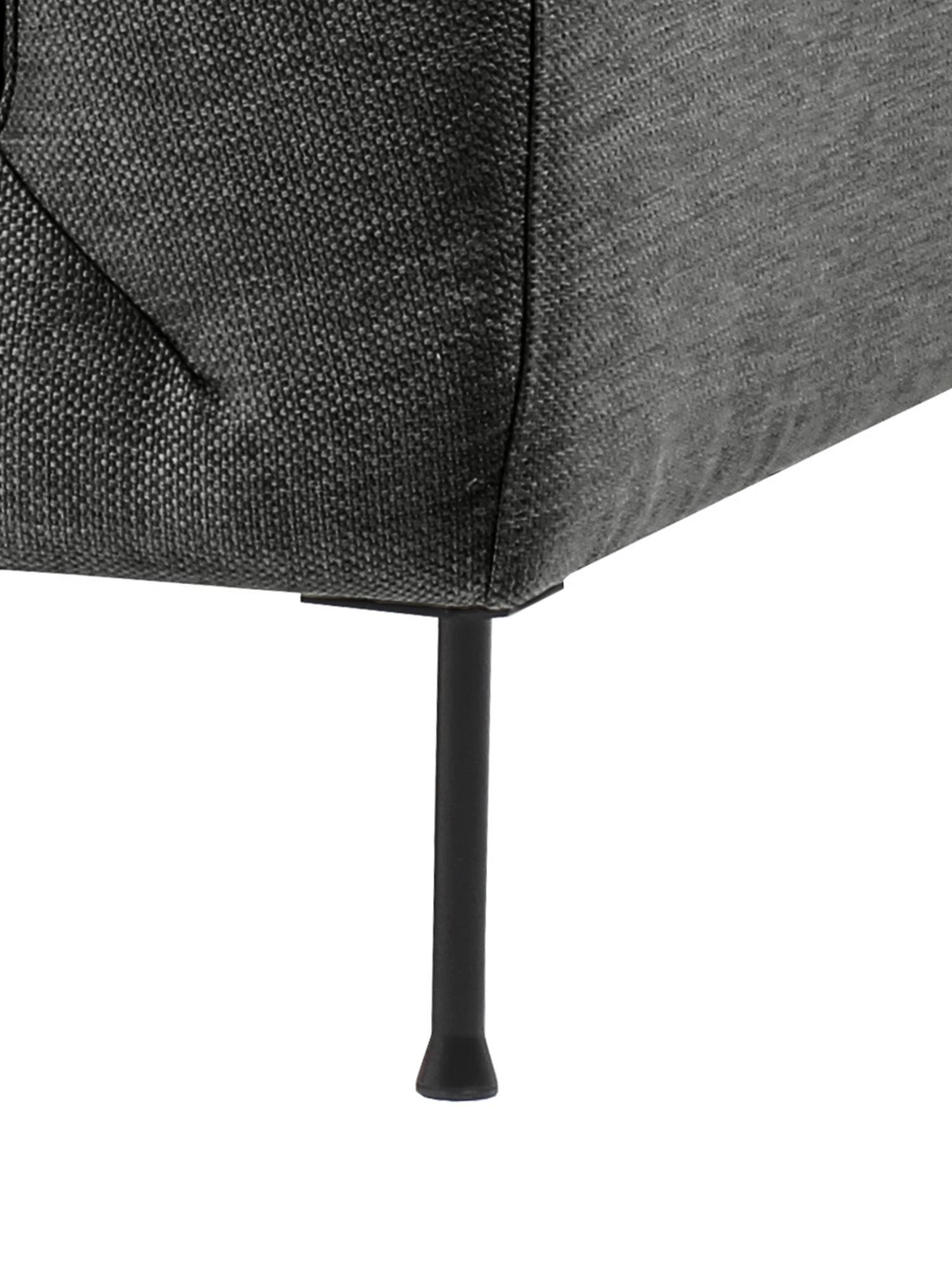 Sofa Cucita (2-Sitzer), Bezug: Webstoff (Polyester) 45.0, Gestell: Massives Kiefernholz, Füße: Metall, lackiert, Webstoff Anthrazit, B 187 x T 94 cm