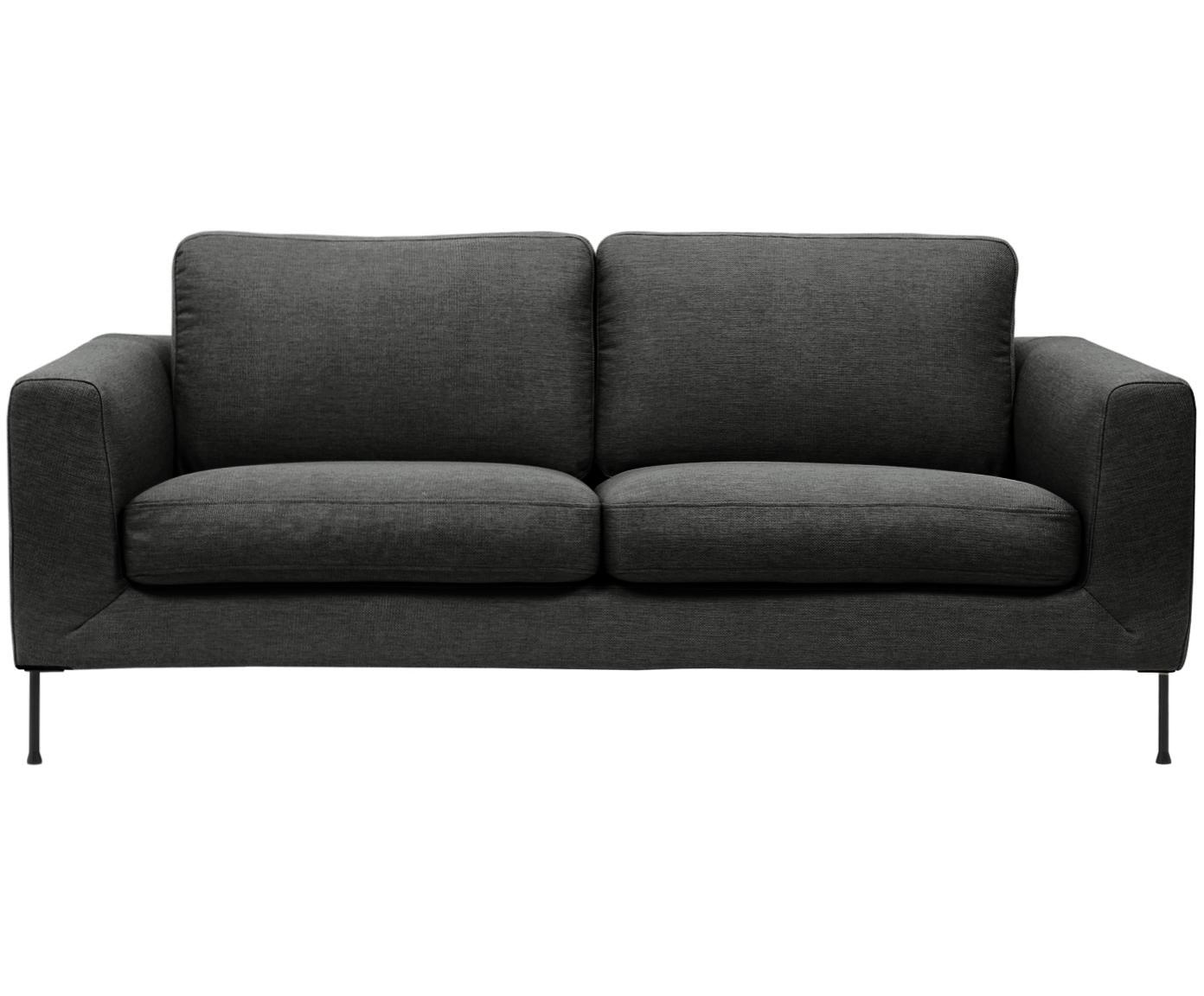 Sofa Cucita (2-Sitzer), Bezug: Webstoff (Polyester) 45.0, Gestell: Massives Kiefernholz, Webstoff Anthrazit, B 187 x T 94 cm