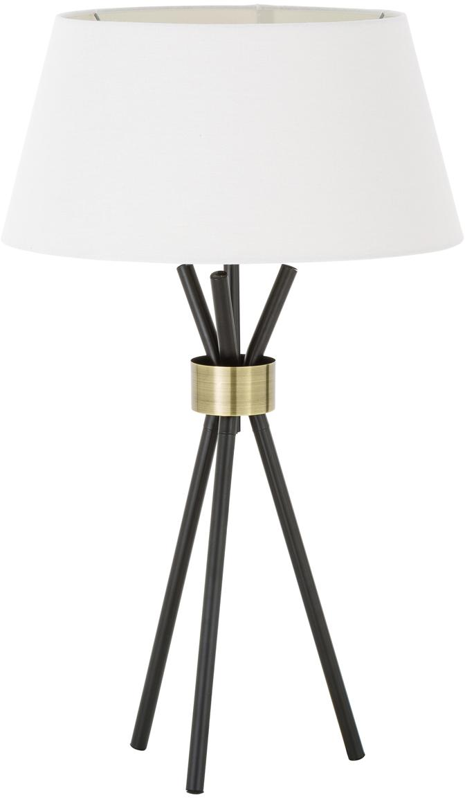 Duża lampa stołowa Tribeca, Biały, czarny, Ø 40 x 83 cm