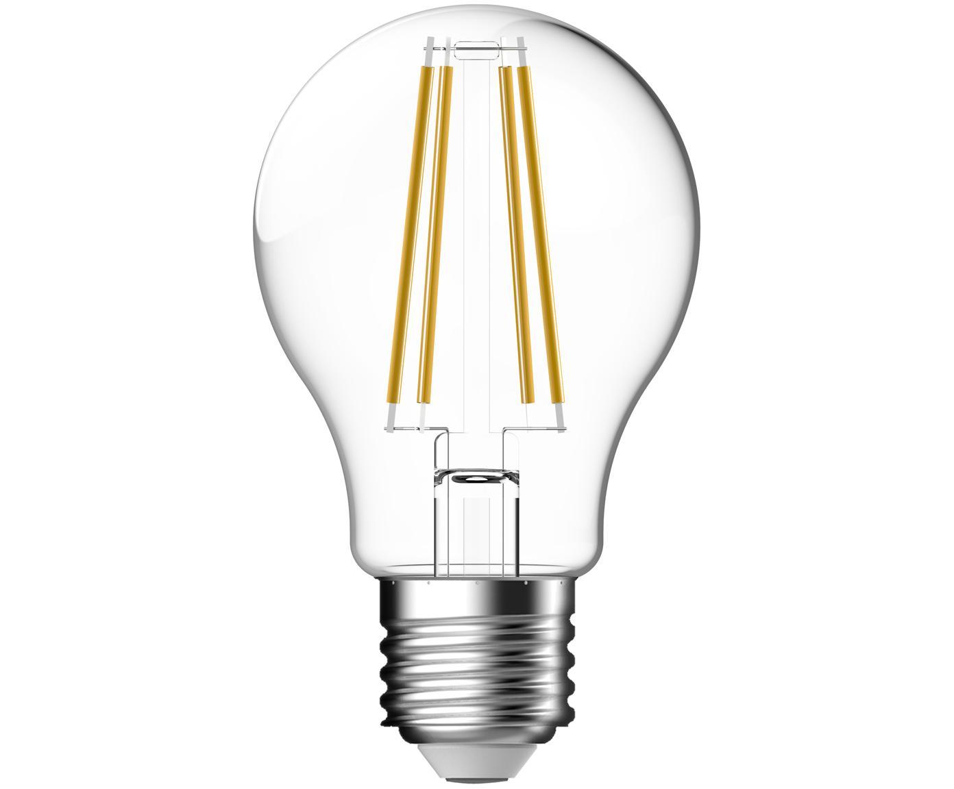 Bombilla LED Clear (E27/7W), Ampolla: vidrio, Casquillo: aluminio, Transparente, Ø 6 x Al 11 cm