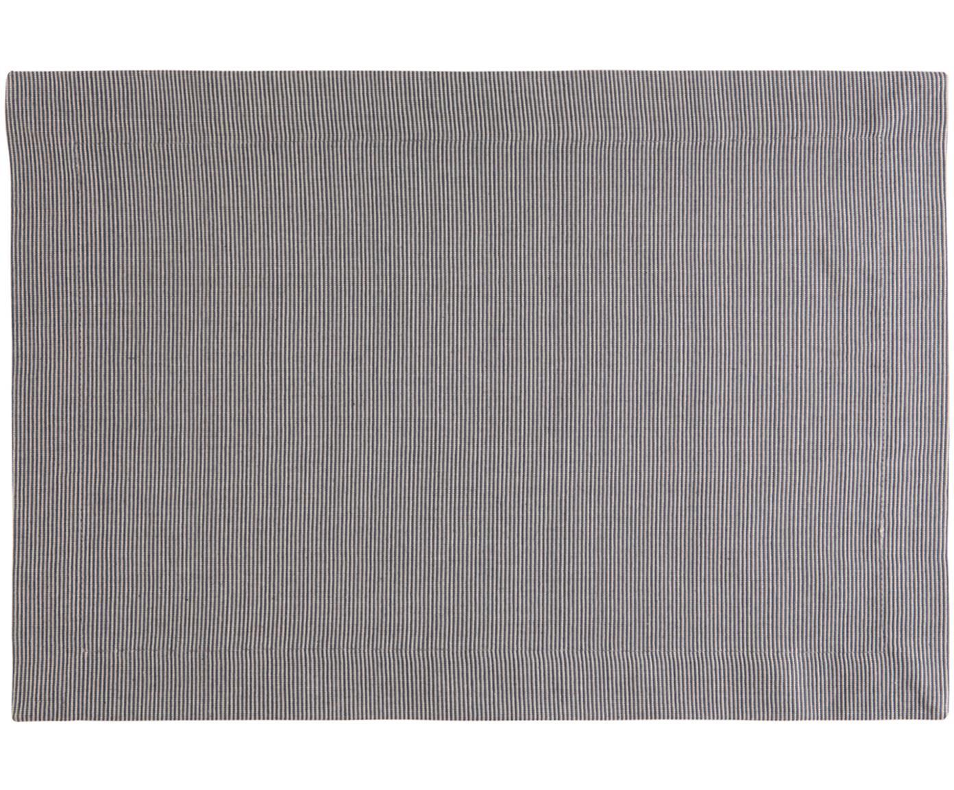 Tovaglietta americana Bombay 2 pz, Cotone, Grigio, Larg. 35 x Lung. 50 cm
