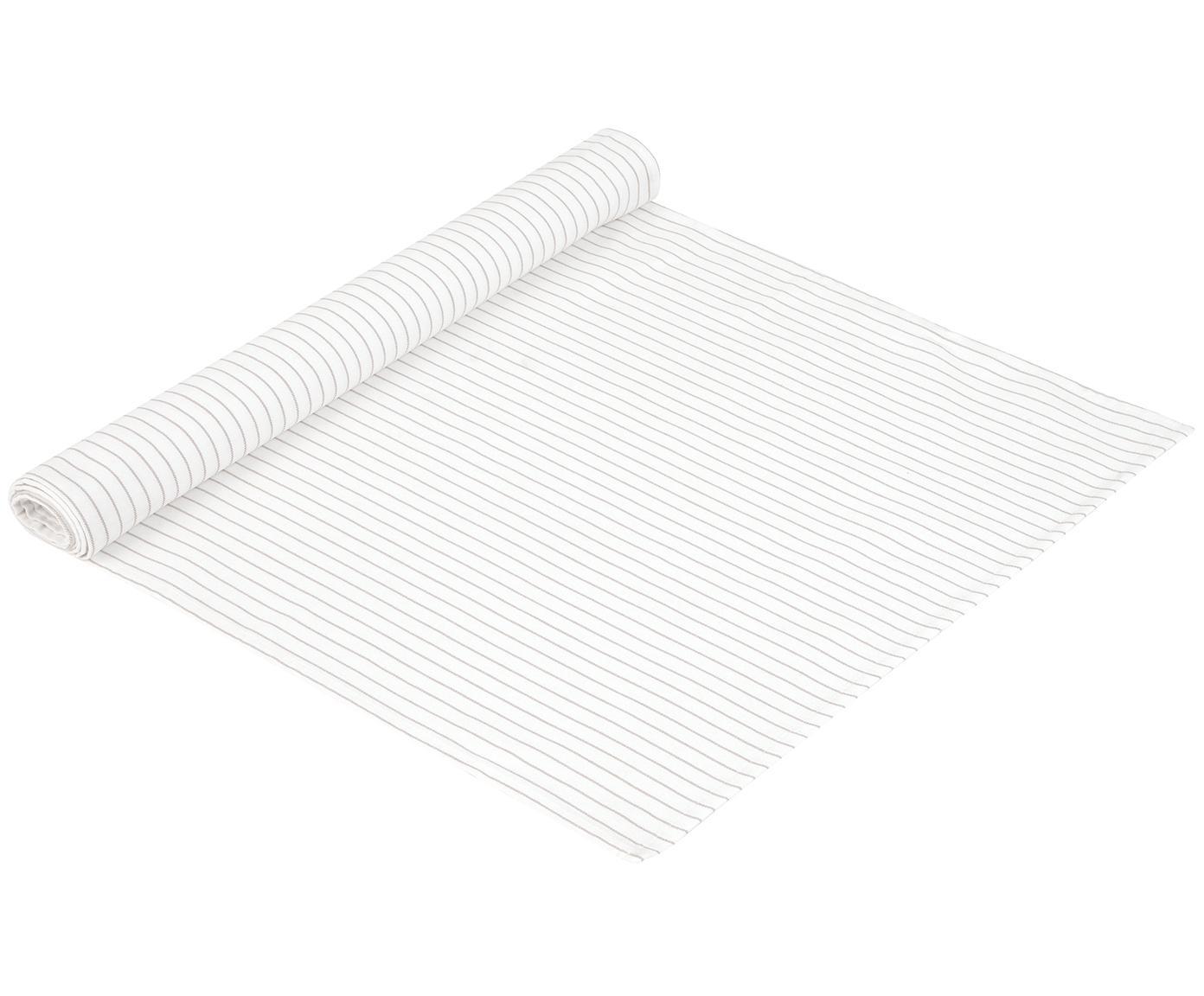 Tischläufer Nicole, Baumwolle, Weiß, Beige, 50 x 150 cm