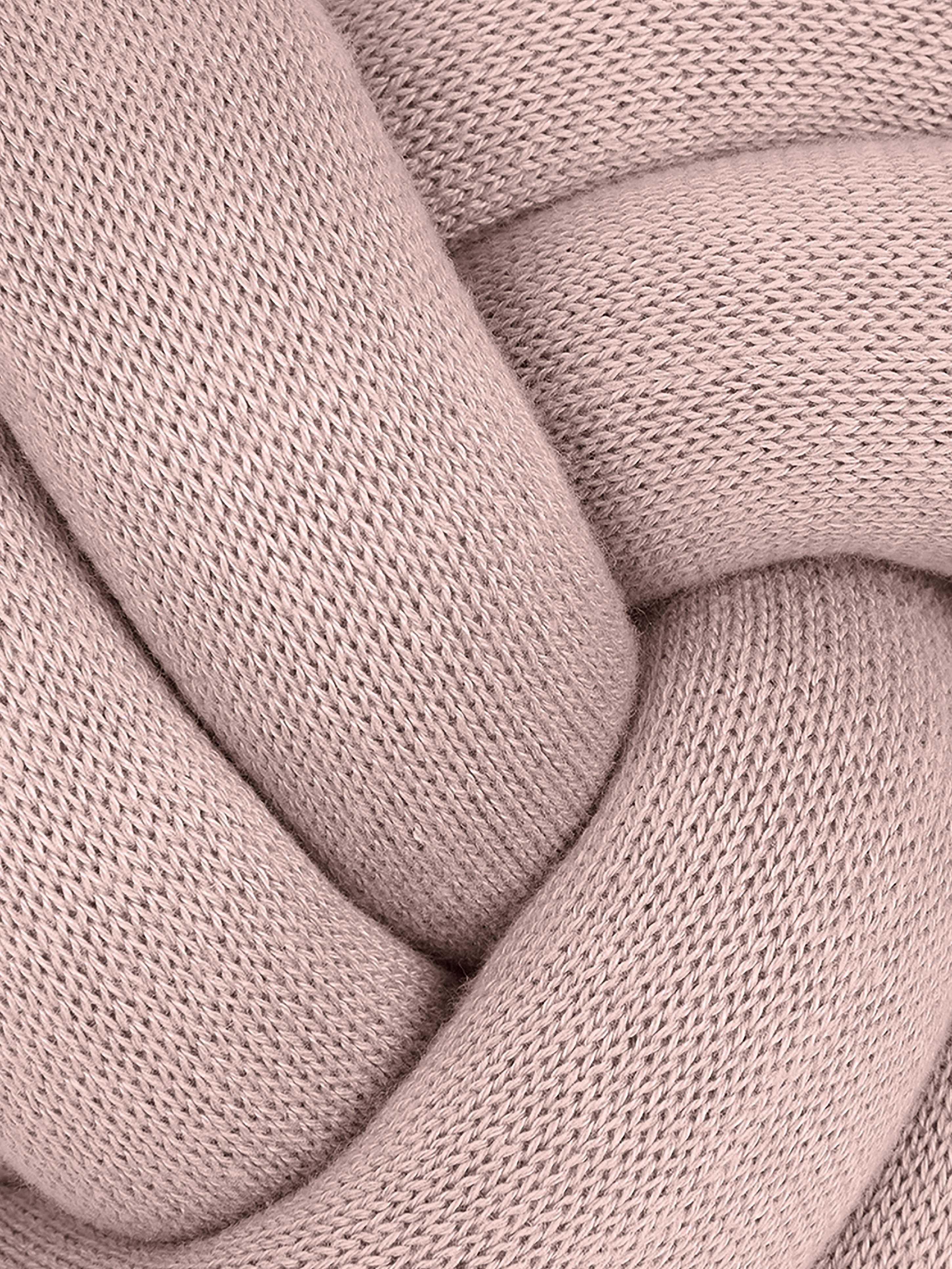 Cuscino rosa Twist, Rosa, Ø 30 cm