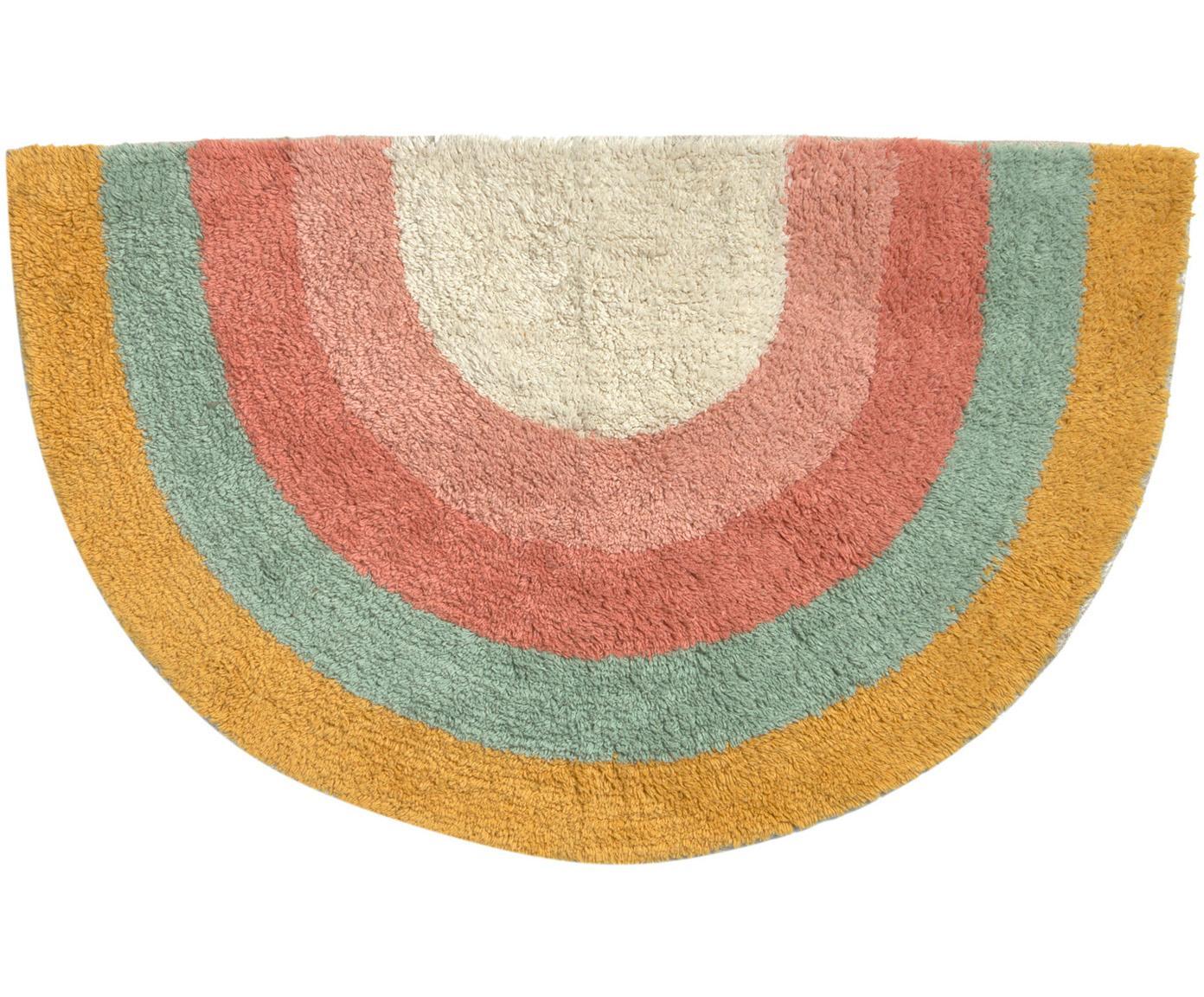 Tappeto bagno design arcobaleno Arco, 100% cotone, Multicolore, Larg. 80 x Lung. 45 cm