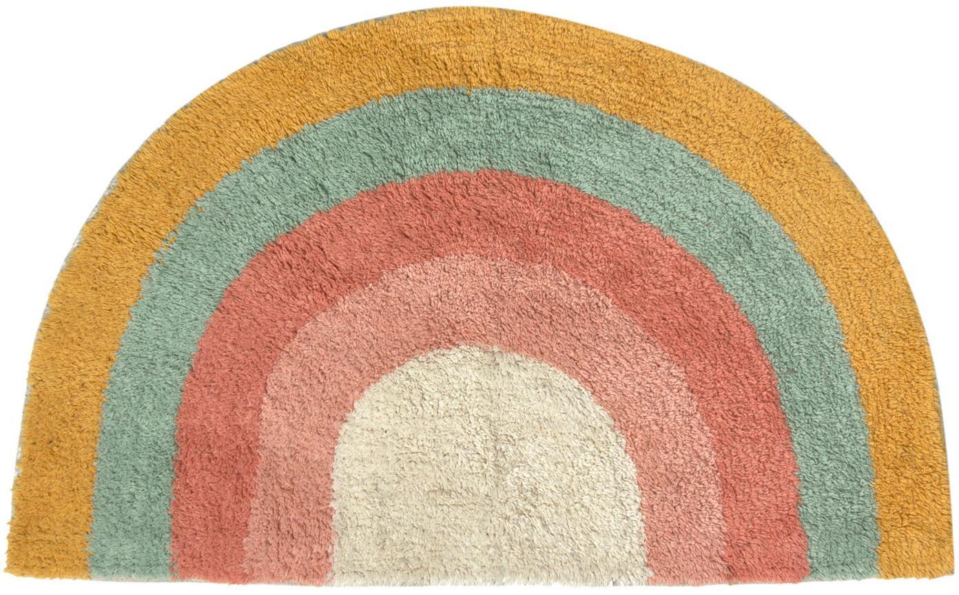 Badmat Arco met regenboog patroon, 100% katoen, Multicolour, 80 x 45 cm