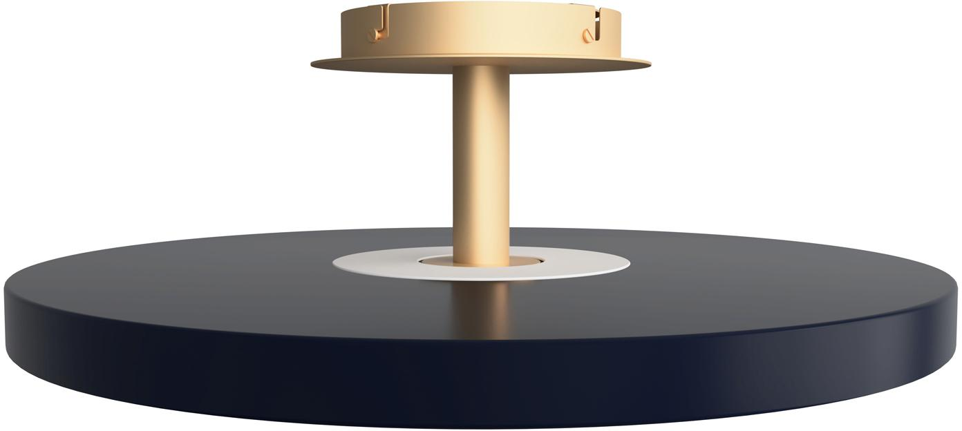 Design LED Deckenleuchte Asteria, Lampenschirm: Aluminium, lackiert, Anthrazit, Goldfarben, Ø 60 x H 21 cm