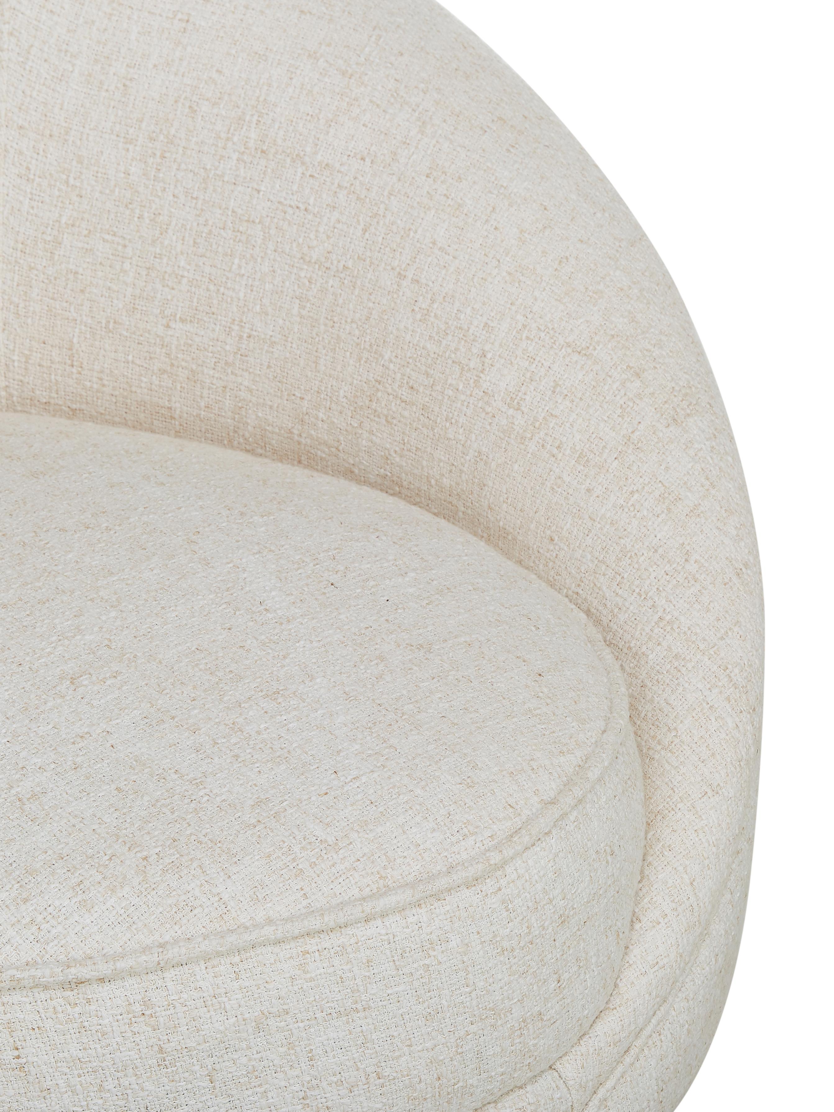 Bouclé-Nierensofa Gatsby (3-Sitzer), Bezug: Bouclé (70% Polyester, 20, Gestell: Massives Eukalyptusholz, Füße: Metall, galvanisiert, Bouclé Beige, B 245 x T 102 cm
